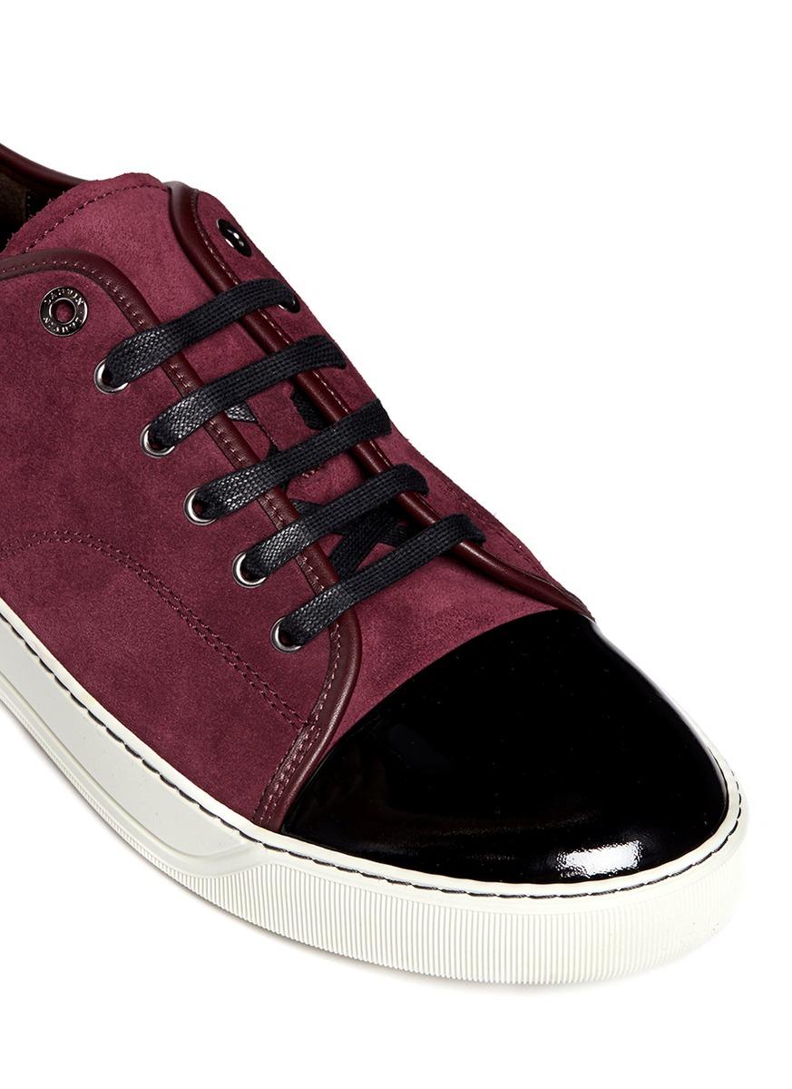 Lanvin Sneakers Plafonnés Orteil - Rouge R4XRy9hqH7