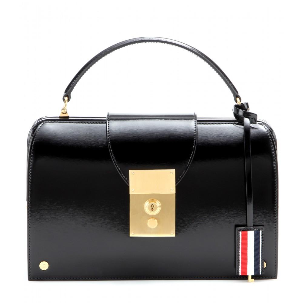 Lyst - Thom Browne Mrs. Thom Leather Handbag in Black 4a4bd9ec67577