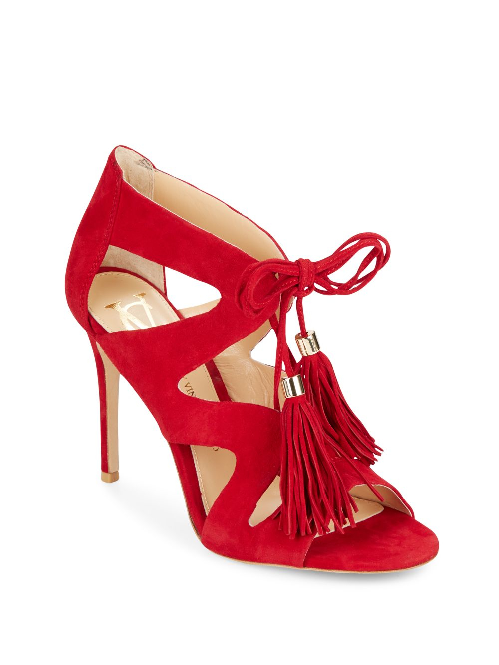 6fc9591bd24e Lyst vince camuto signature manders suede lace up pumps in red jpg  1000x1334 Vince camuto red