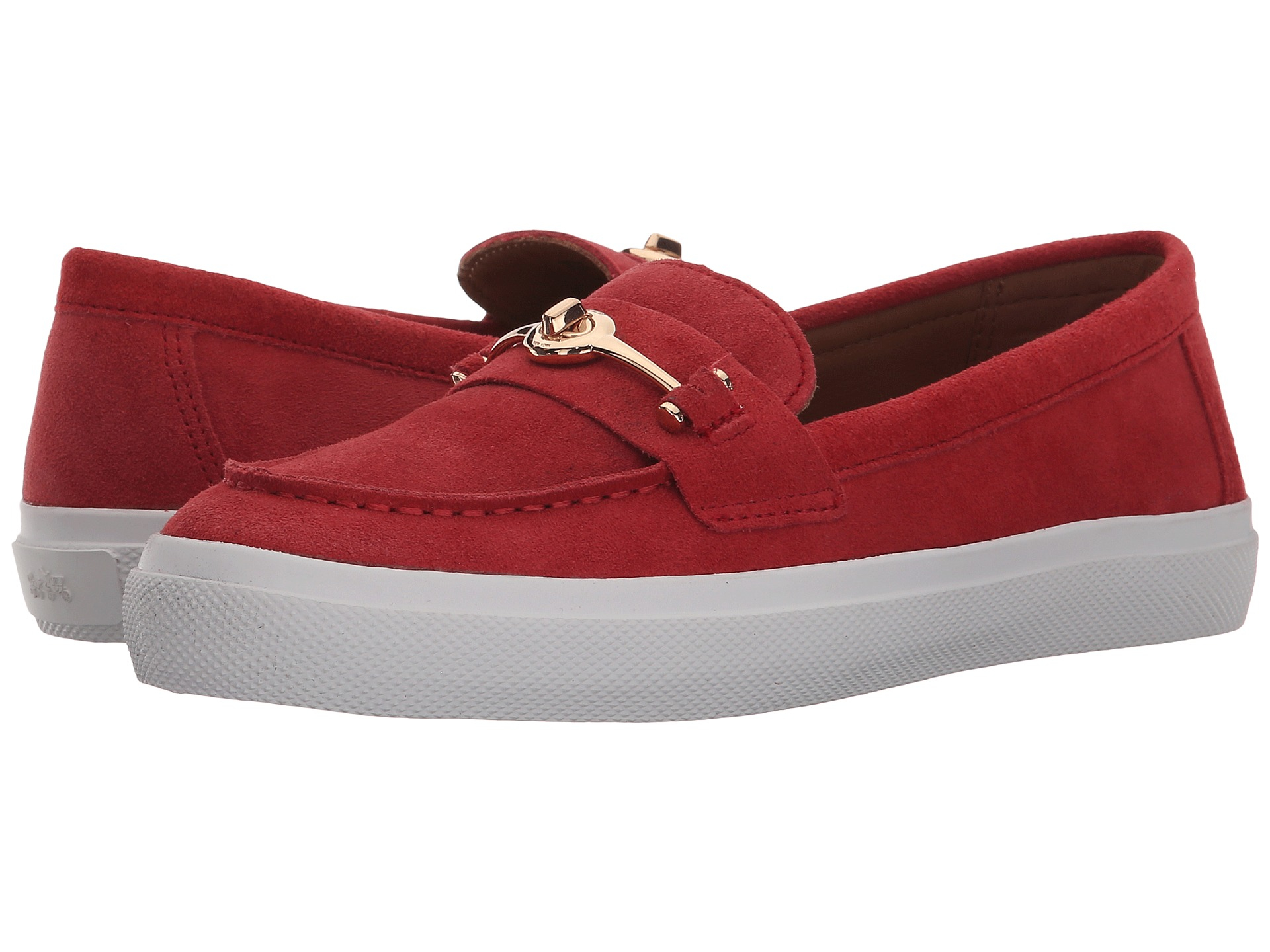 Womens Shoes COACH Corey True Red Calf Suede