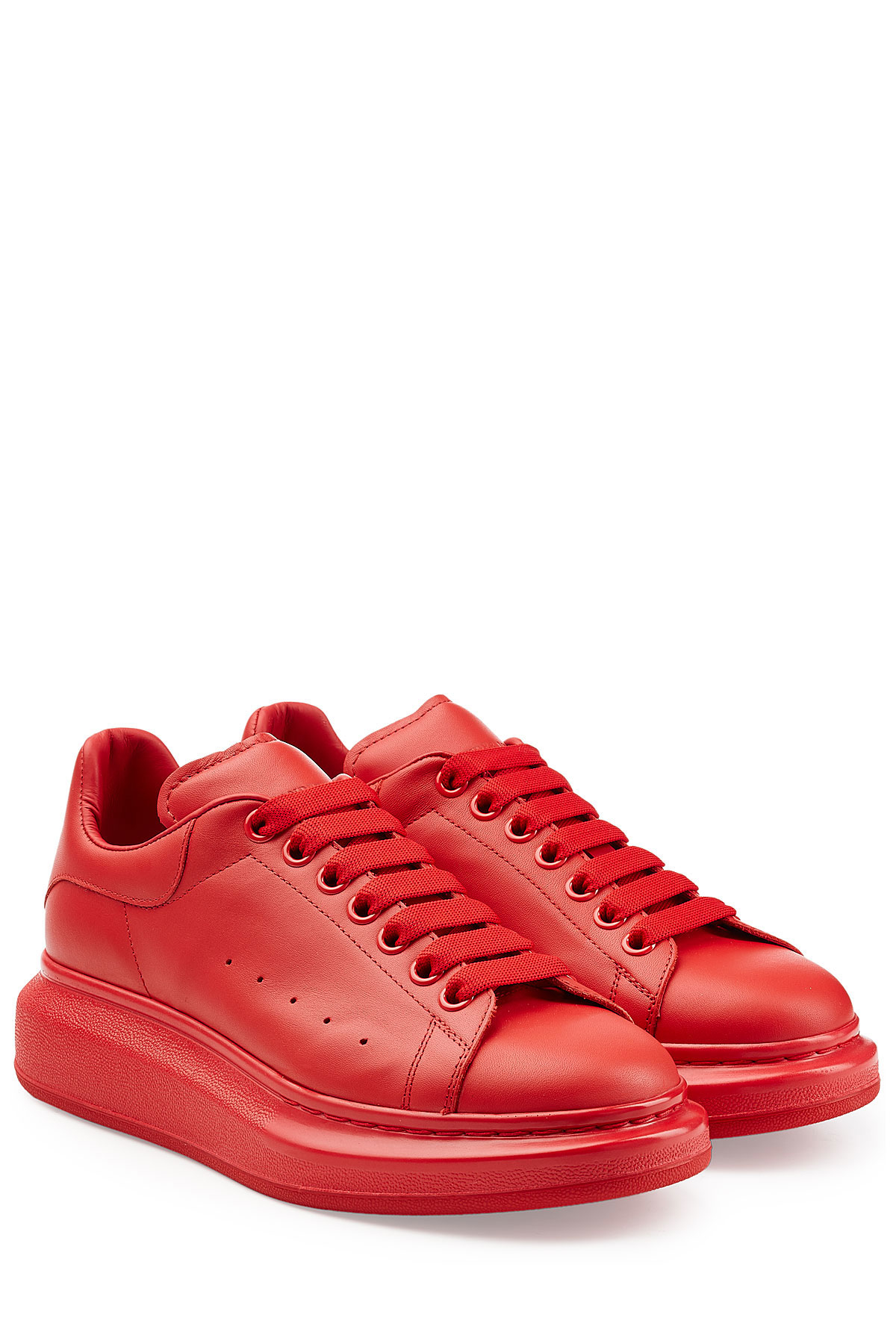 Alexander Mcqueen Leather Sneakers Red In Red For Men Lyst