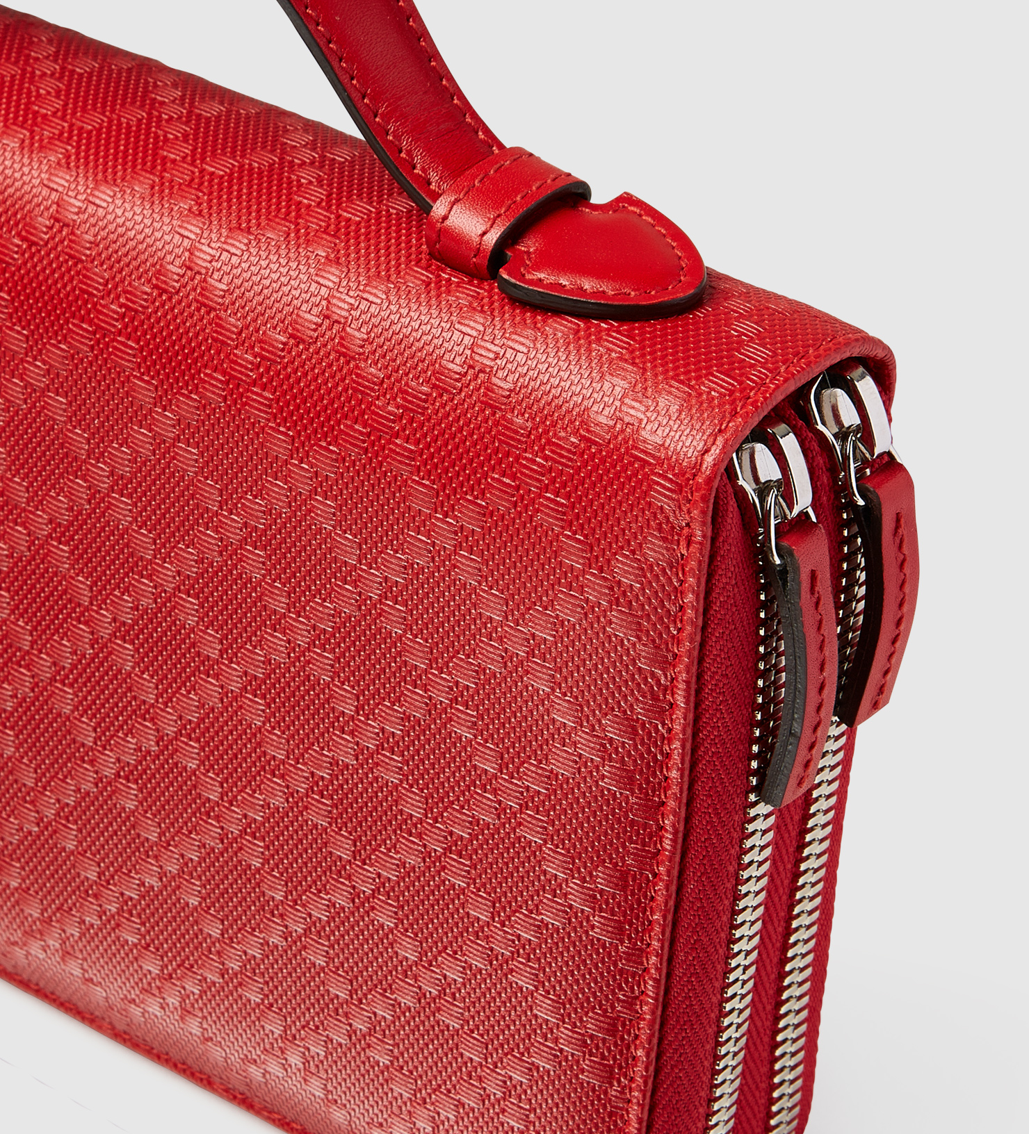 434c5fe29e47 Gucci Diamante Leather Travel Document Case in Red for Men - Lyst