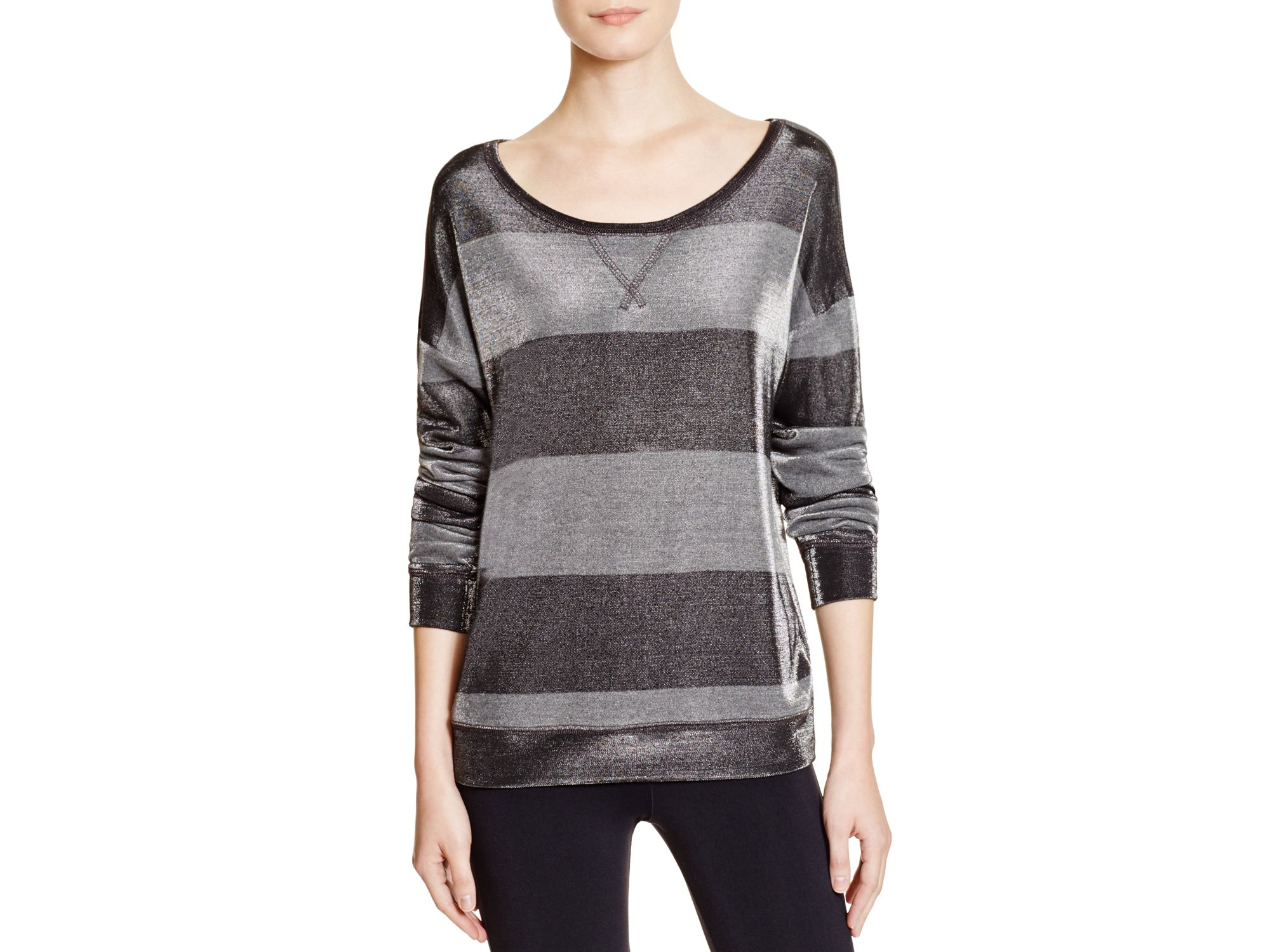 b73a06ca58 Lyst - David Lerner Striped Pullover Sweater in Black