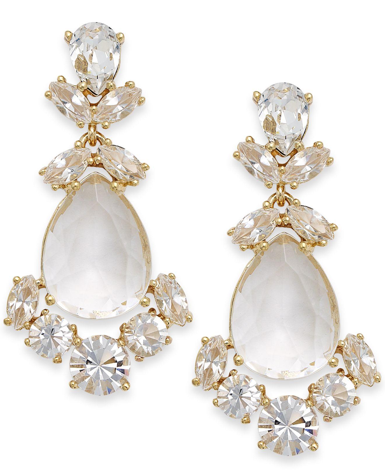 0b5bde92d Kate Spade Crystal Chandelier Earrings in White - Lyst