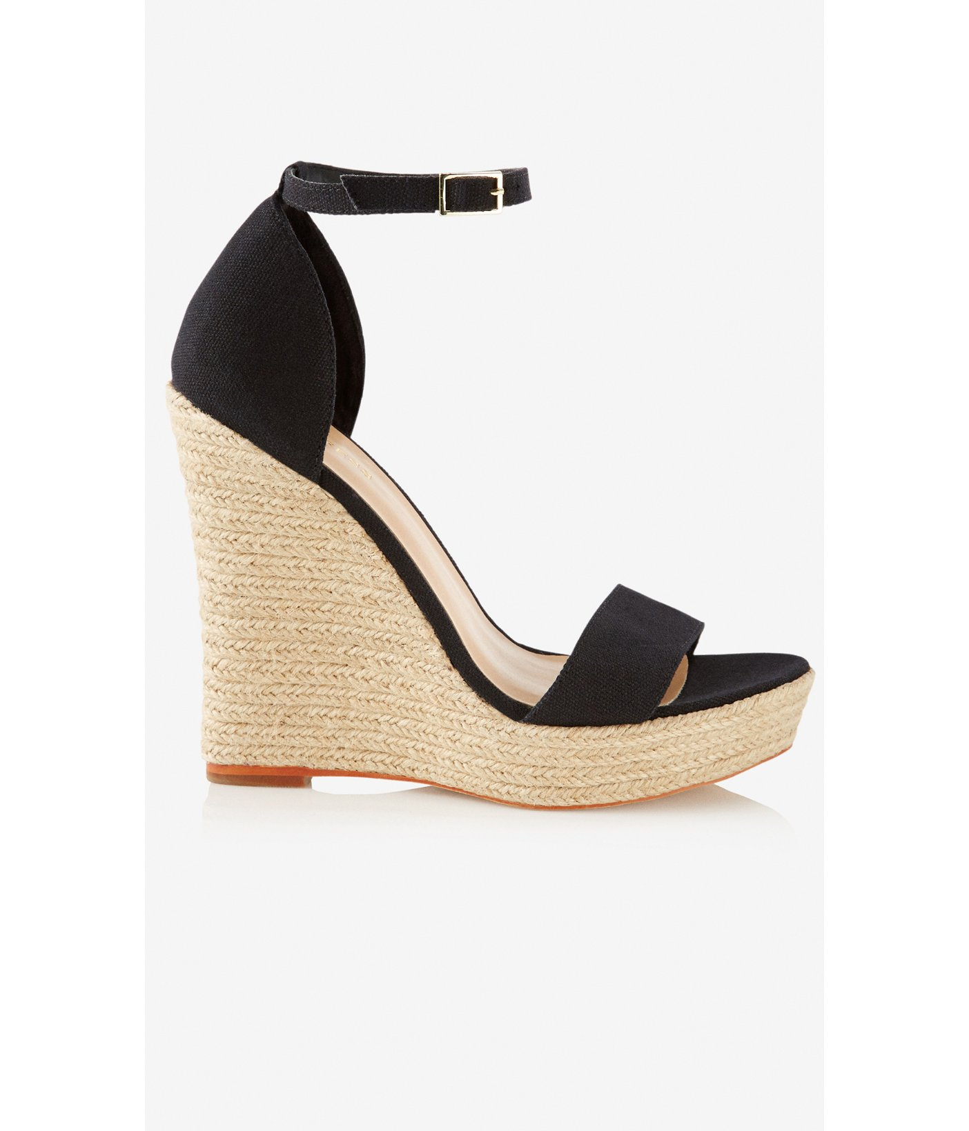 fdf04e04c85 Express Espadrille Wedge Sandal in Black - Lyst