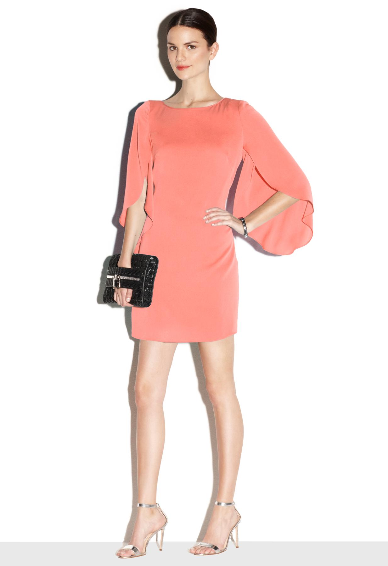 Milly Butterfly Sleeve Dress in Pink | Lyst