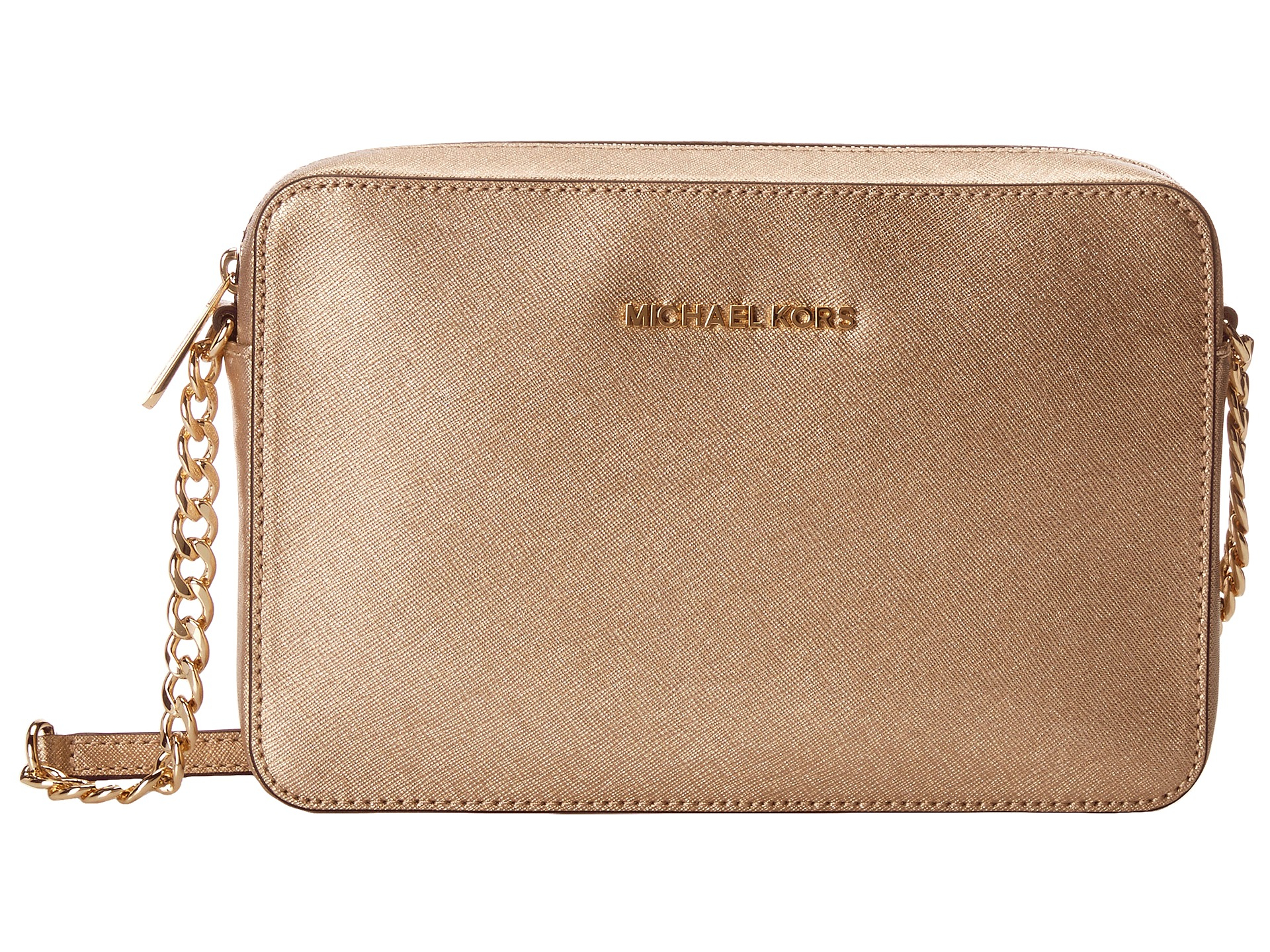 df10cb6c69e735 MICHAEL Michael Kors Jet Set Travel Lg Ew Crossbody in Metallic - Lyst