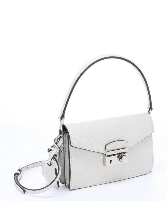 prada blue - Prada White Saffiano Leather Convertible Mini Shoulder Bag in ...