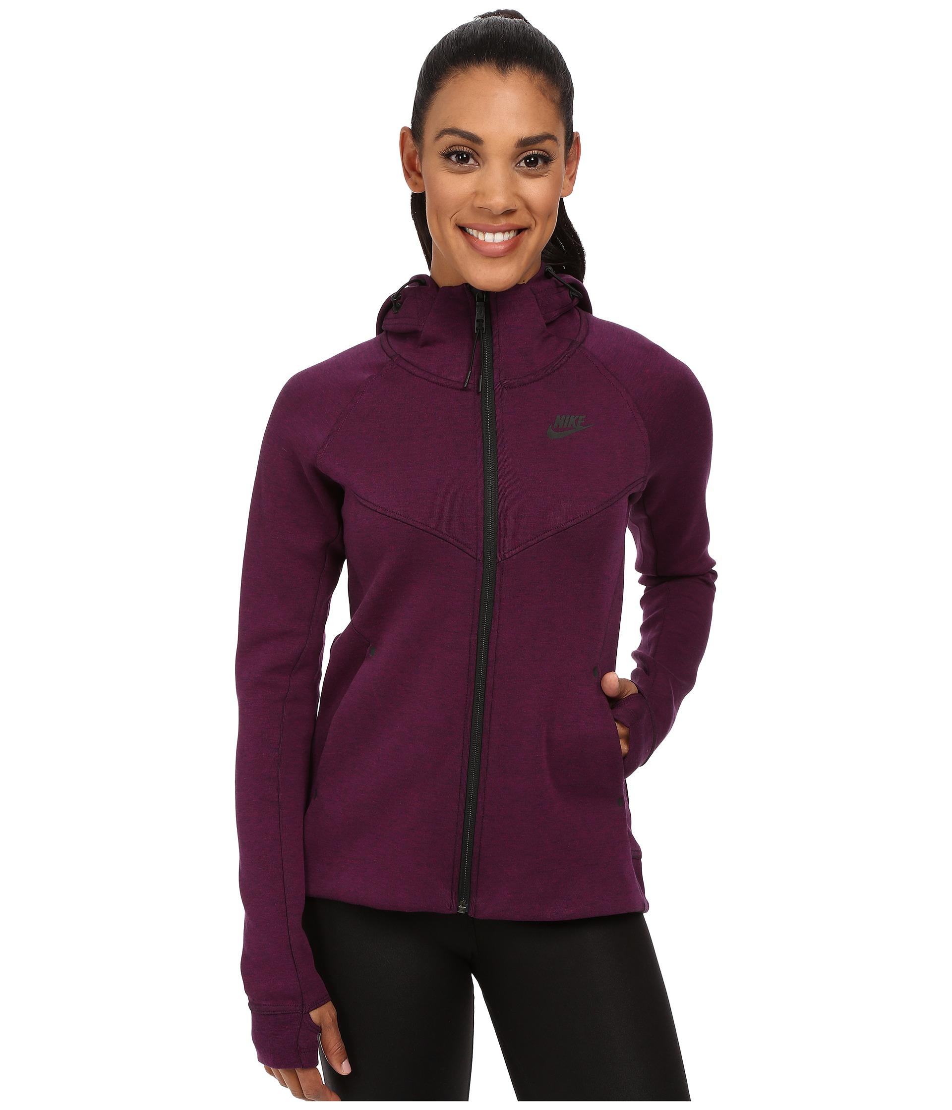 72ee6899ed37 Lyst - Nike Tech Fleece Full-zip Hoodie in Purple