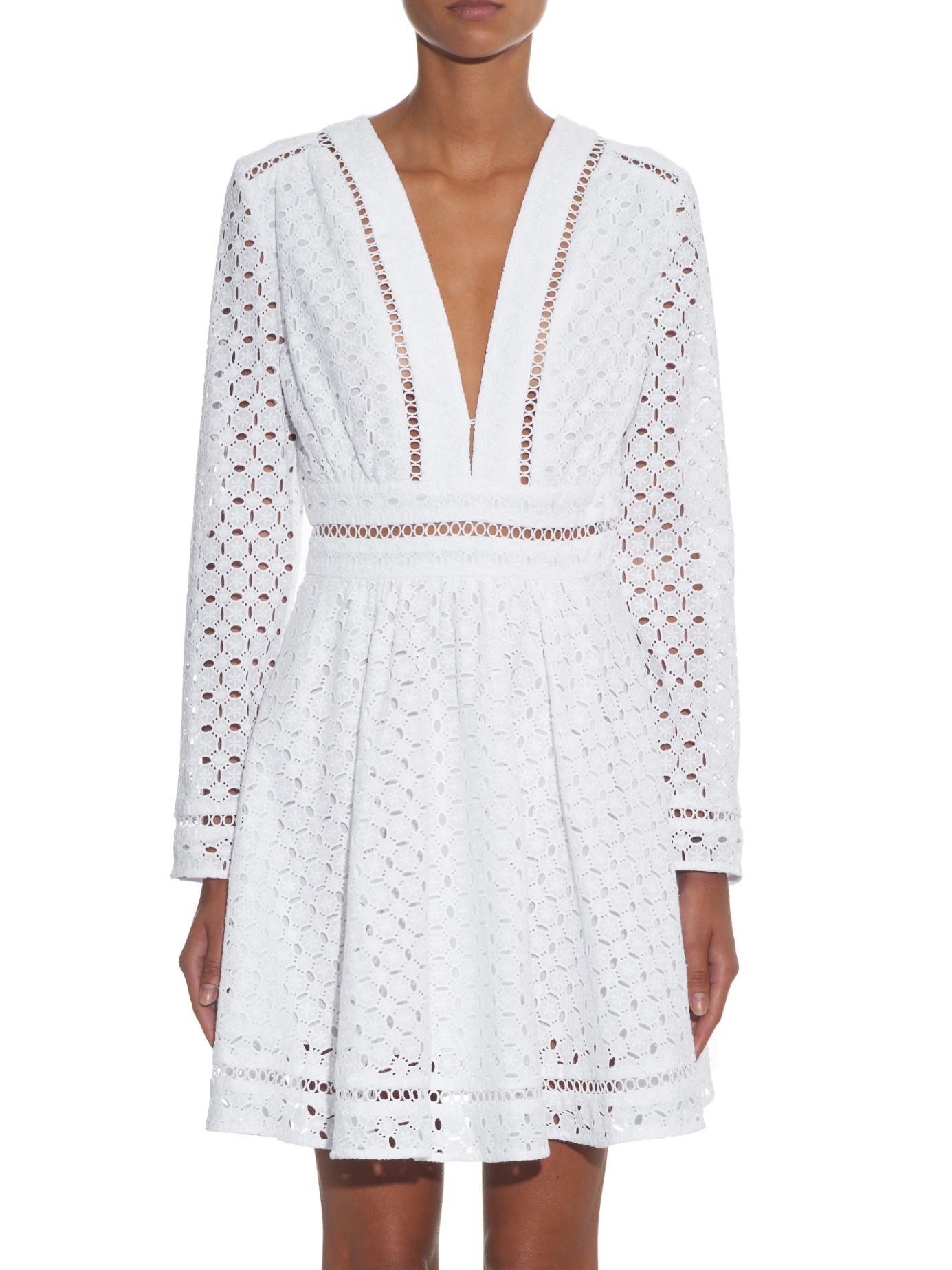 Lyst Zimmermann Ryker Broderie Anglaise Cotton Dress In