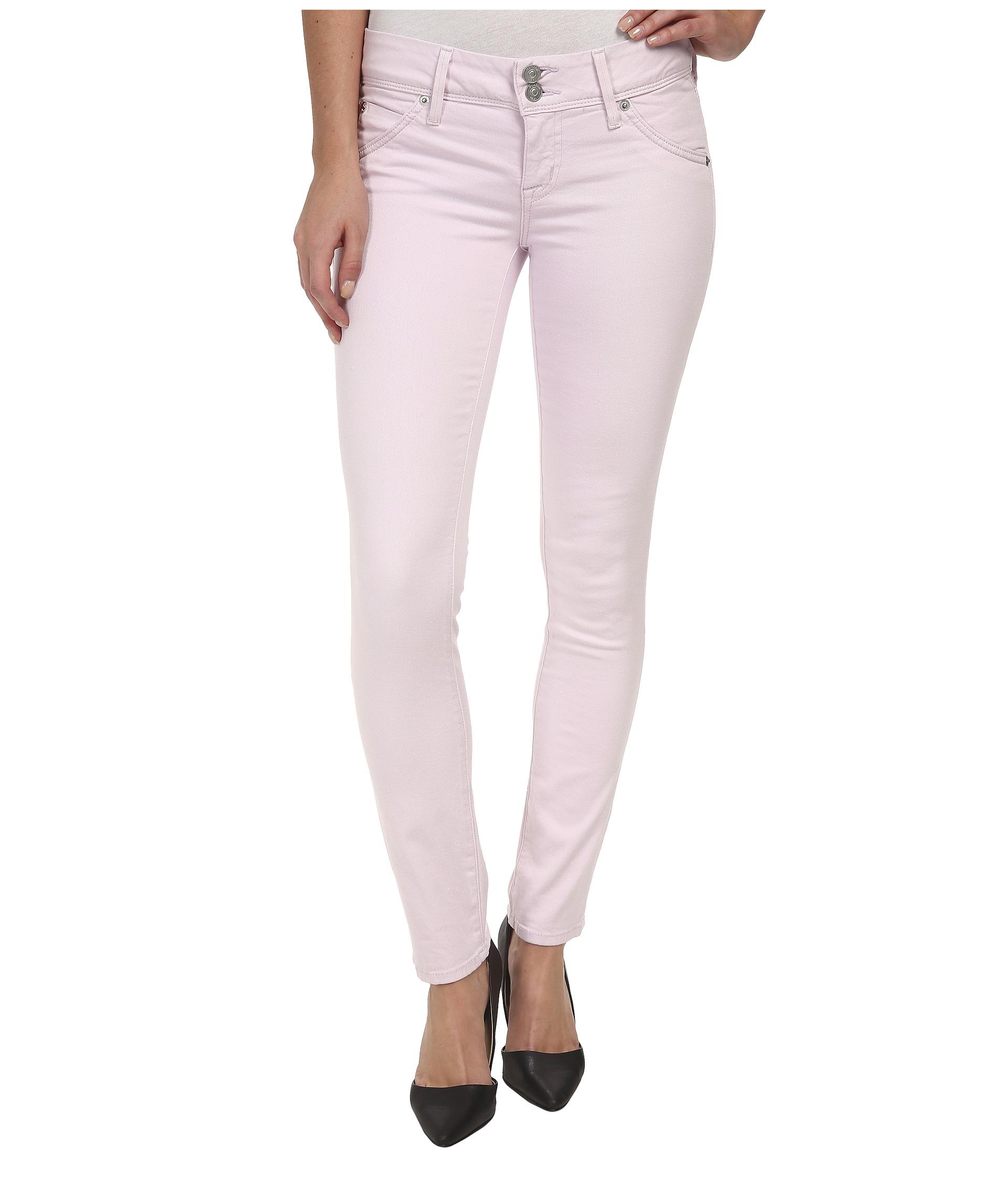 Lyst Hudson Jeans Nicole Ankle Skinny Jeans In Wild Flower In Pink