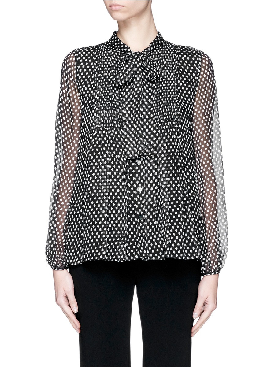 Polka-dot silk blouse Diane Von Fürstenberg Clearance Discount For Sale Discount Sale Outlet Big Discount Choice Cheap Online r0uSvU
