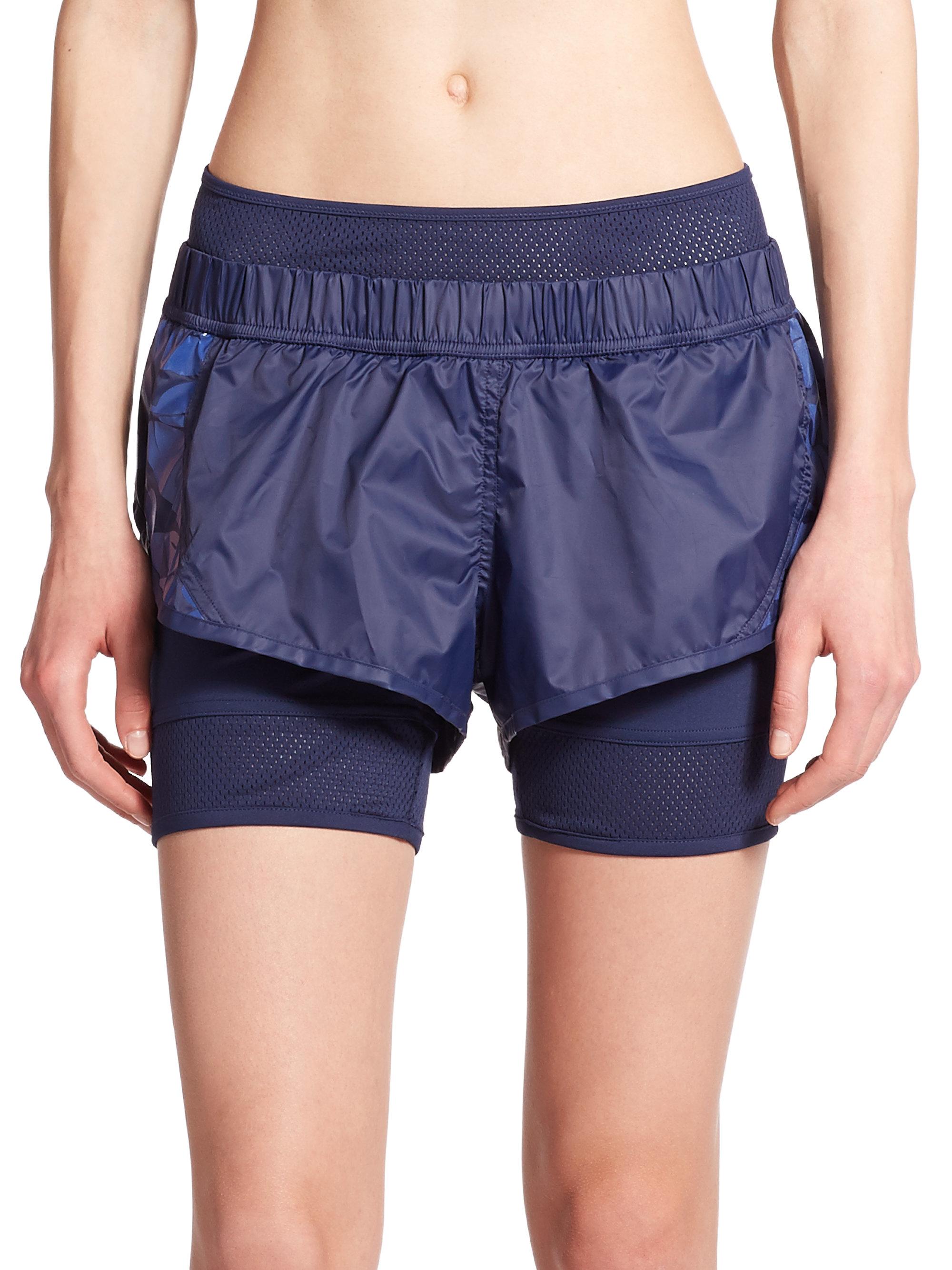 Adidas by stella mccartney Woven Mini Running Shorts in ...