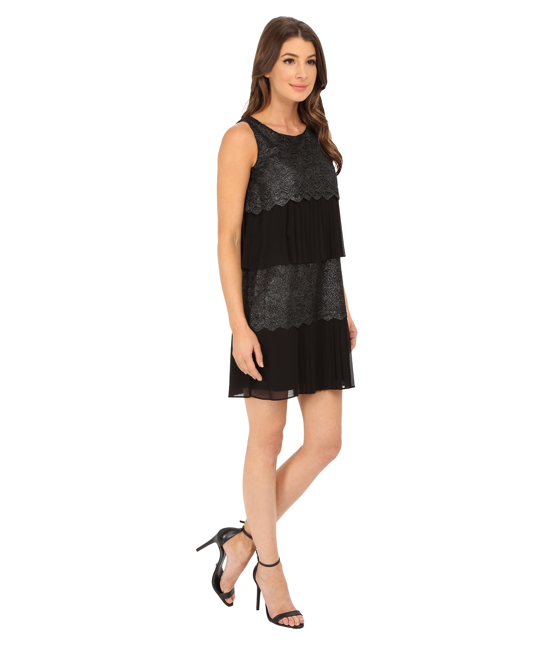 Chiffon lace tiered dress