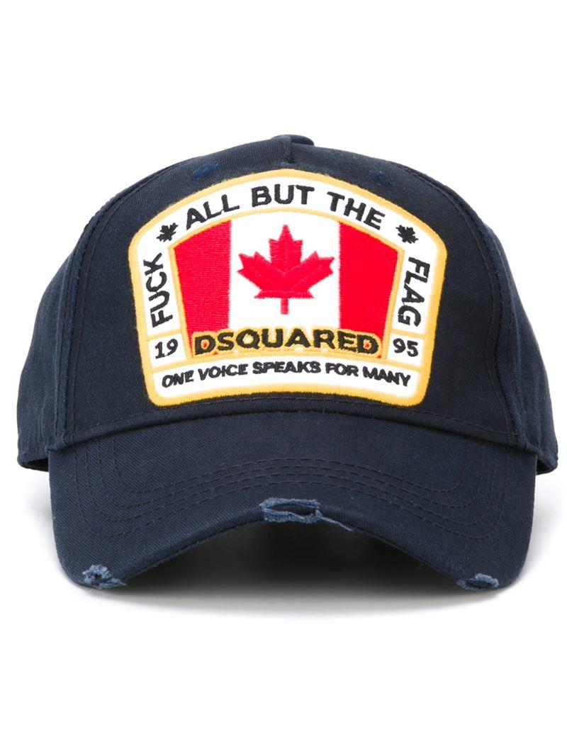 78e5e0d1f48 DSquared² Logo Patch Cap in Blue for Men - Lyst