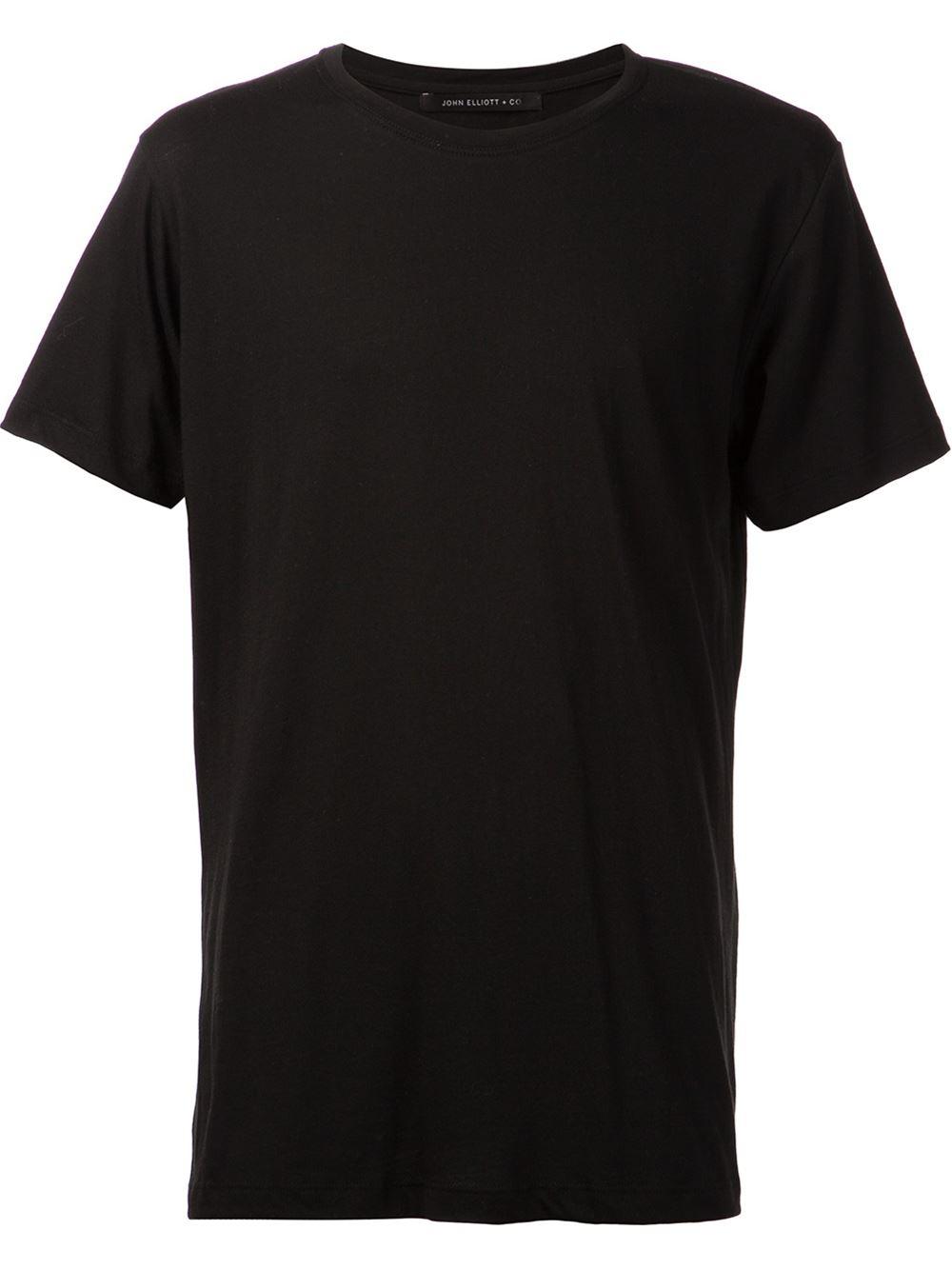 John elliott Basic T-Shirt in Black for Men | Lyst