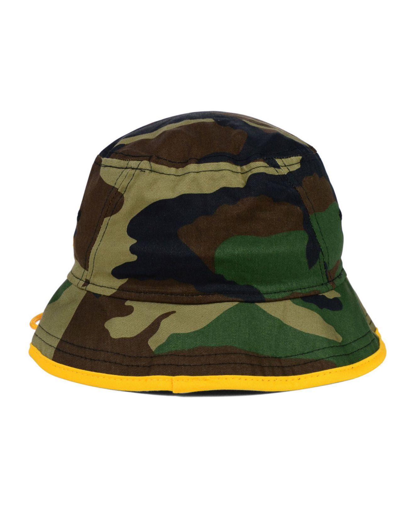 6e8ce20245e Lyst - KTZ Pittsburgh Steelers Camo Pop Bucket Hat in Green for Men