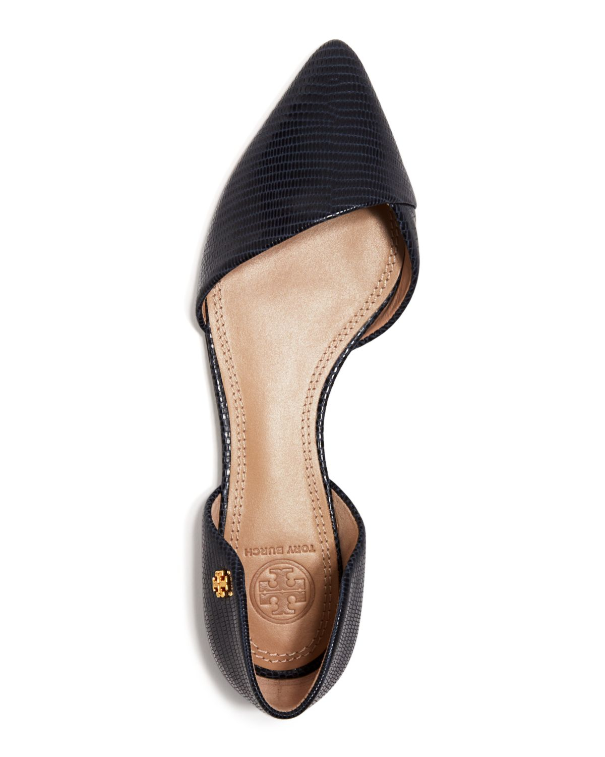 67aecbef28b Lyst - Tory Burch Pointed Toe D orsay Flats - Viv in Blue