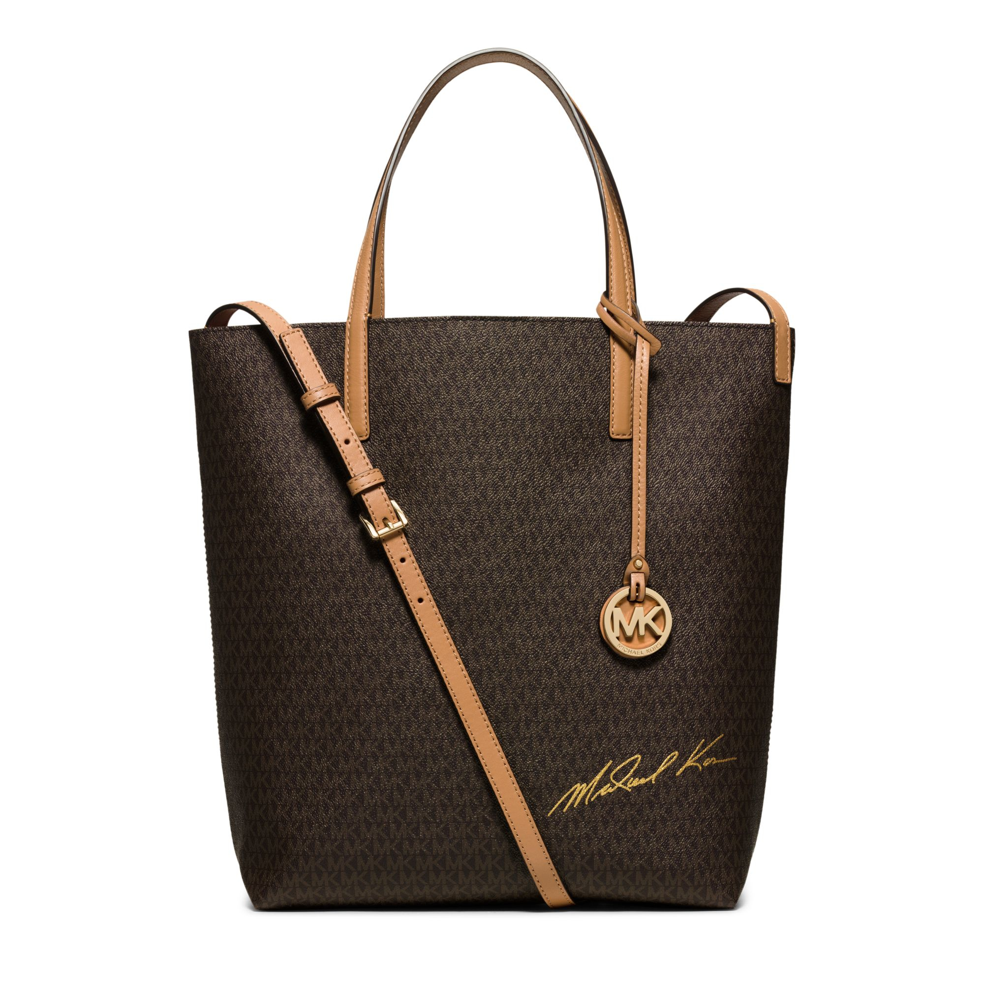 michael kors signature logo large convertible tote in. Black Bedroom Furniture Sets. Home Design Ideas