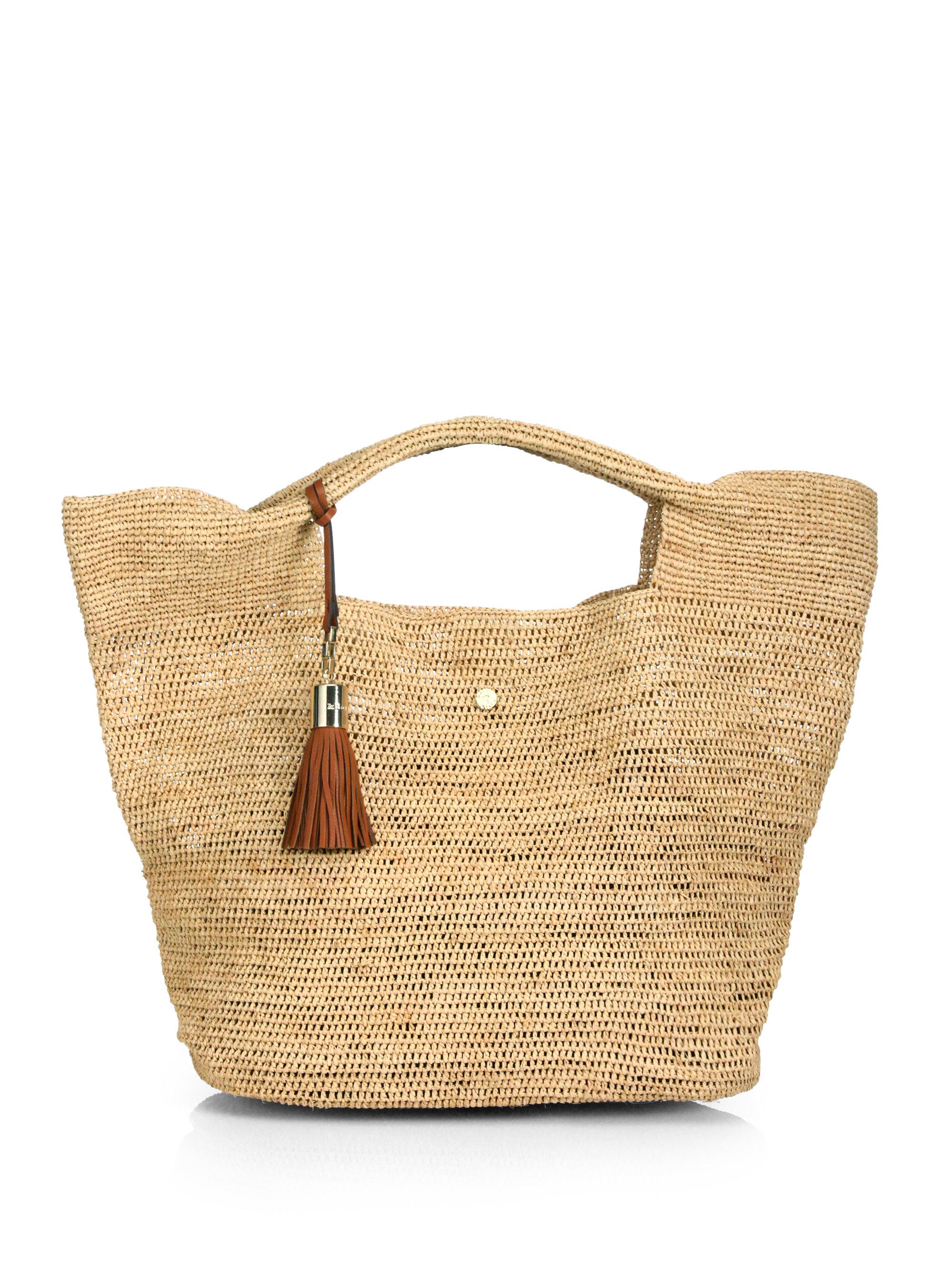 Heidi klein Raffia Beach Bag in Natural | Lyst