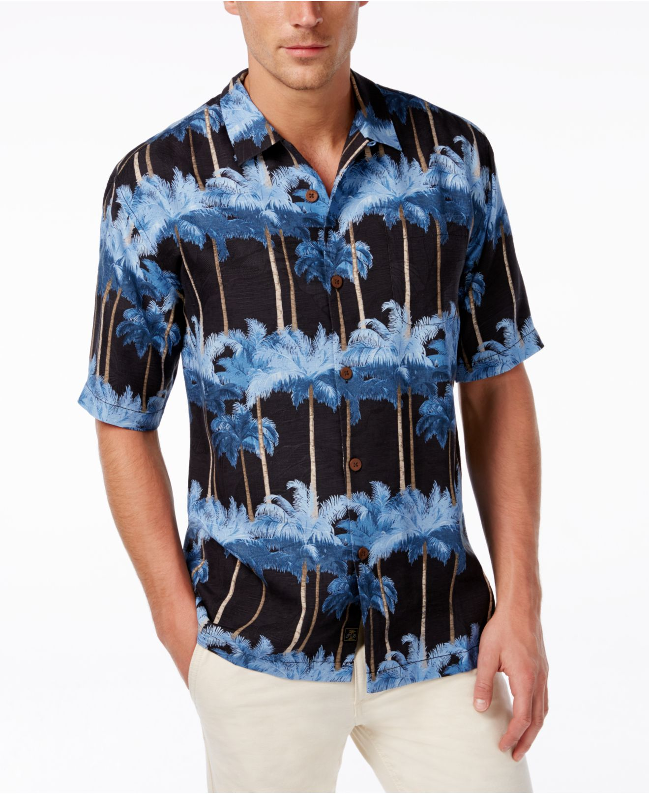 Tommy Bahama Men 39 S Palmirage Short Sleeve Shirt In Blue