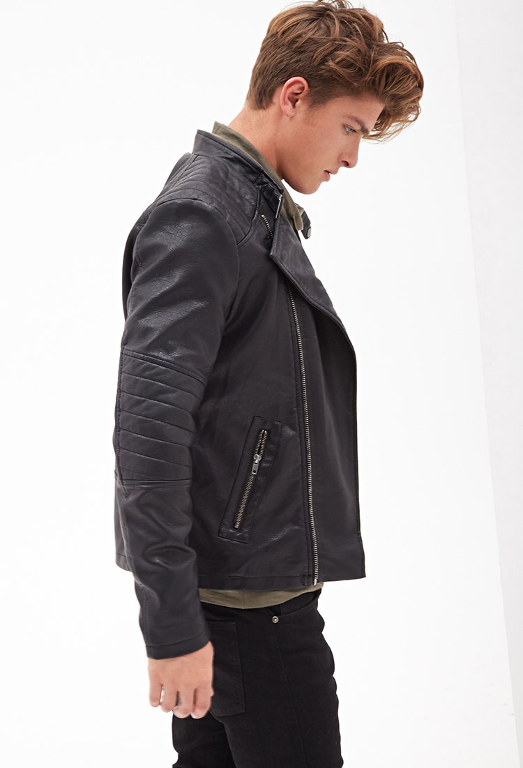 21 men leather jacket