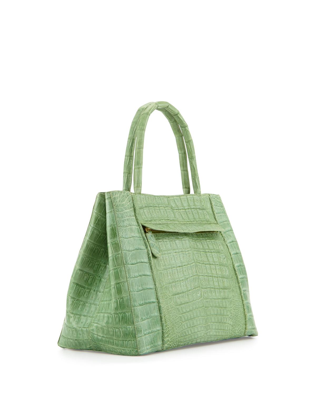 Lyst nancy gonzalez small sectional crocodile tote bag for Nancy gonzalez crocodile tote