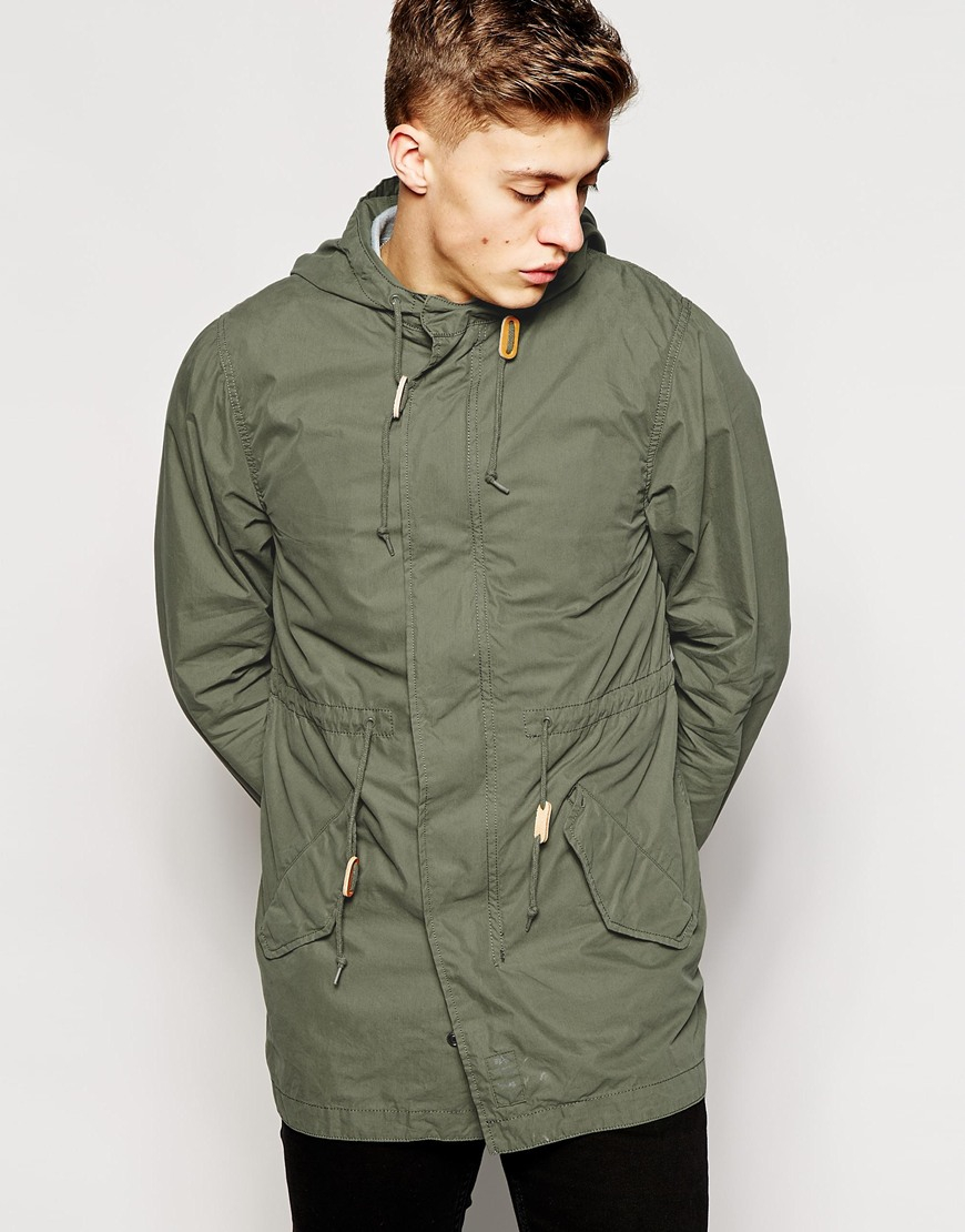 Alpha industries Parka With Fishtail in Green for Men | Lyst
