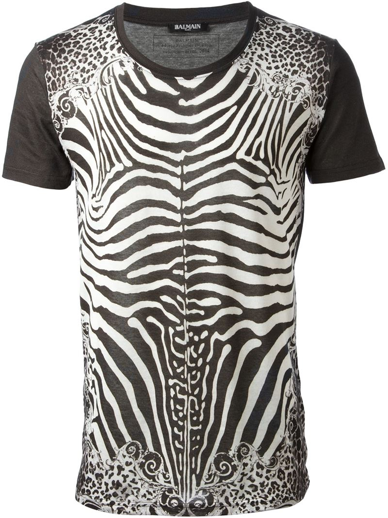 3242ab28e7e96 Zebra Print T Shirt Mens