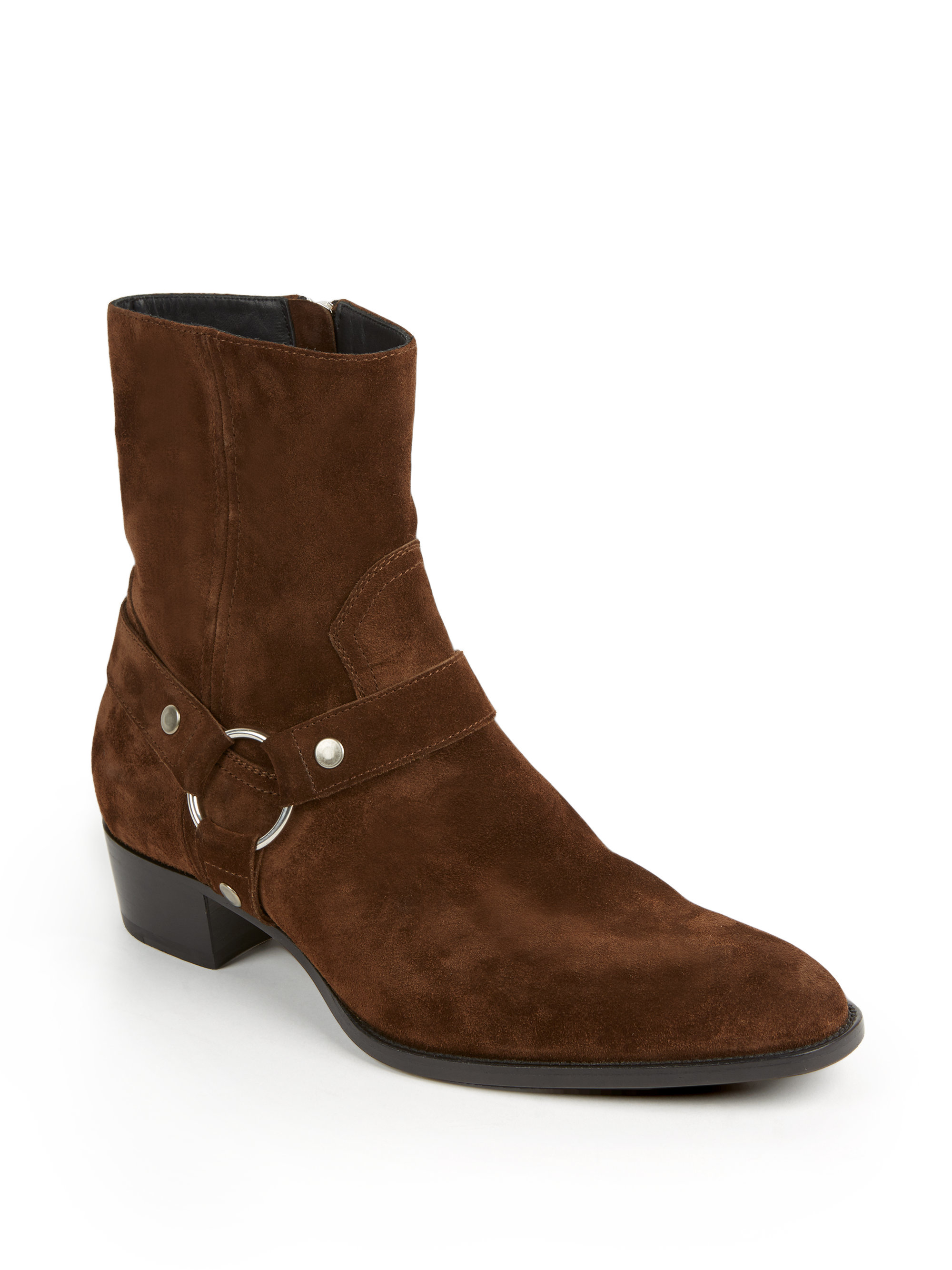 laurent wyatt 40 suede ankle boots in brown for