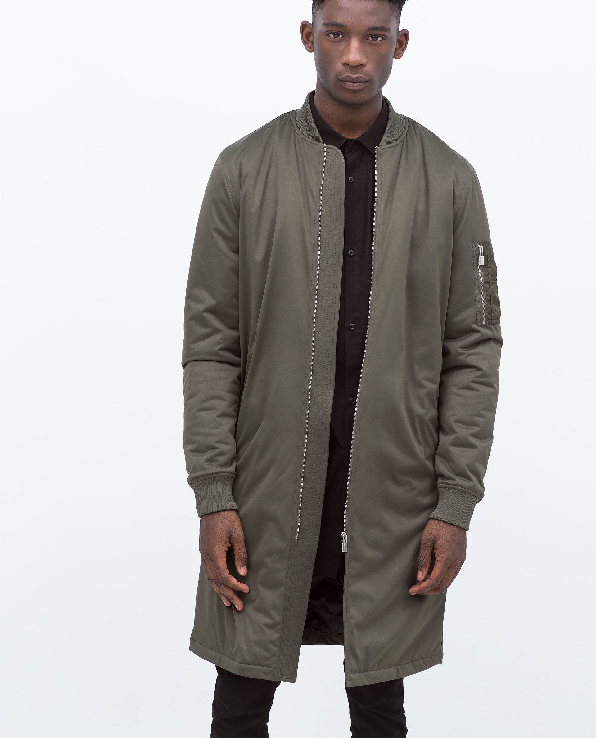 Long bomber jacket mens zara – Your jacket photo blog