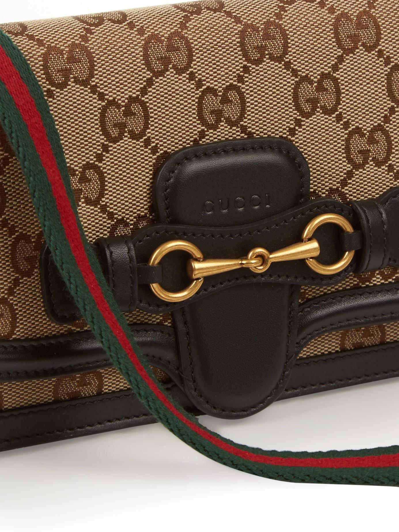 Lyst - Gucci Lady Web Cross-Body Bag in Black c23b109951363