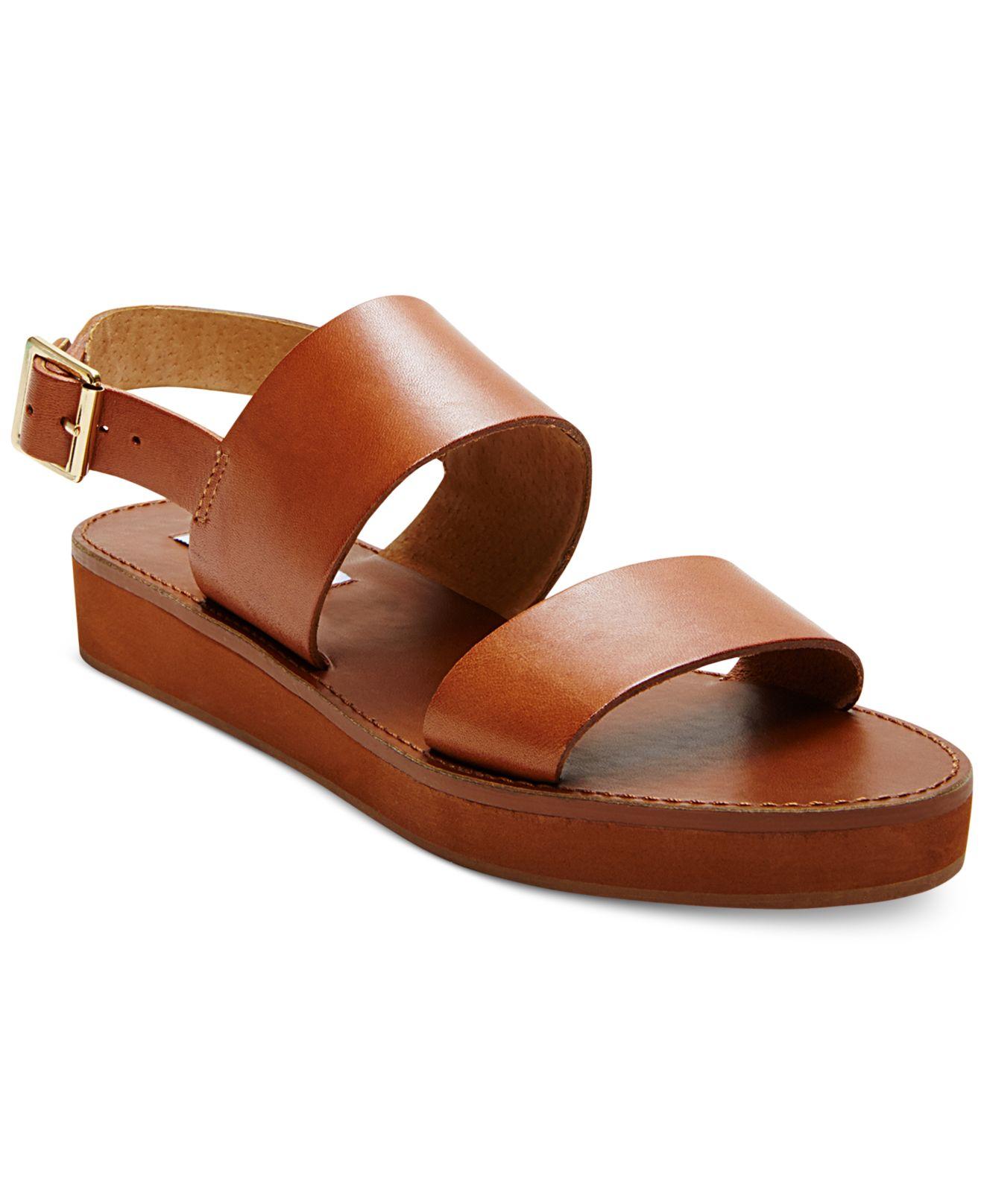 7aba62af0b1 Lyst - Steve Madden Orka Flatform Sandals in Brown
