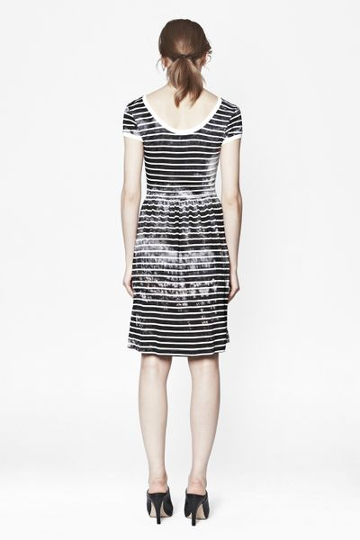 French Connection Amelia Striped Jersey Short Sleeve Dress