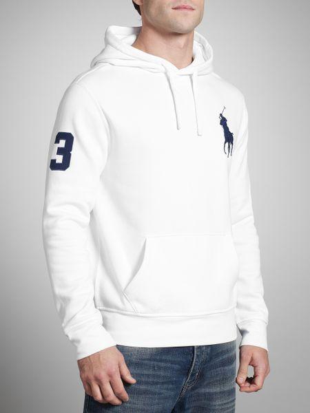 Polo Ralph Lauren Big Pony Hoodie in White for Men | Lyst