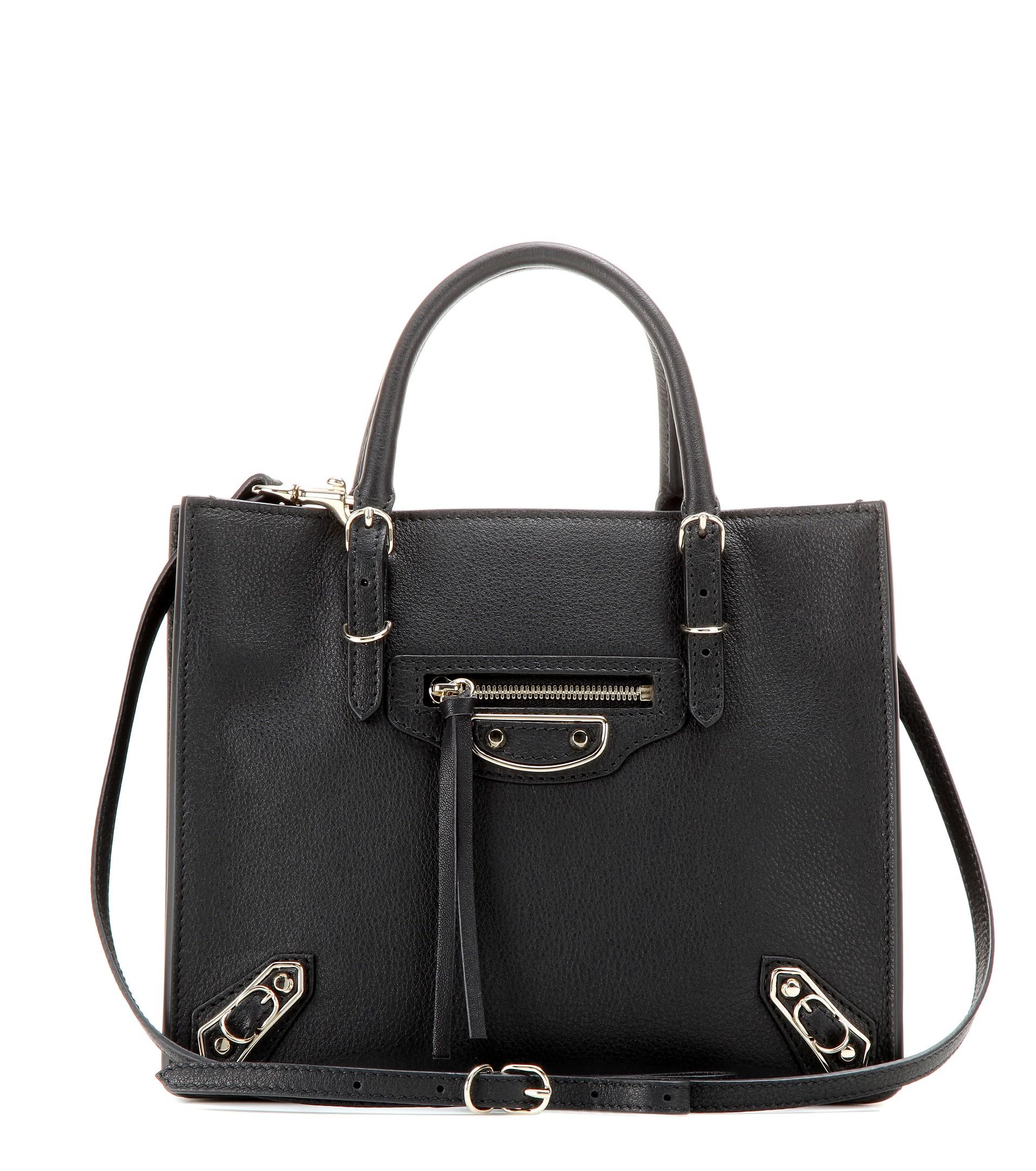 f5bf87980f Lyst - Balenciaga Mini Papier A4 Metallic Edge Leather Shoulder Bag ...