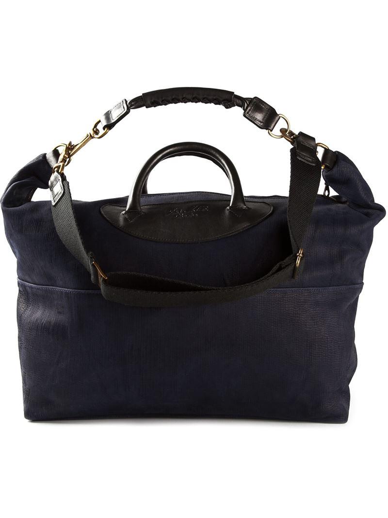 Lyst Jas Mb Logo Weekender Bag In Blue For Men
