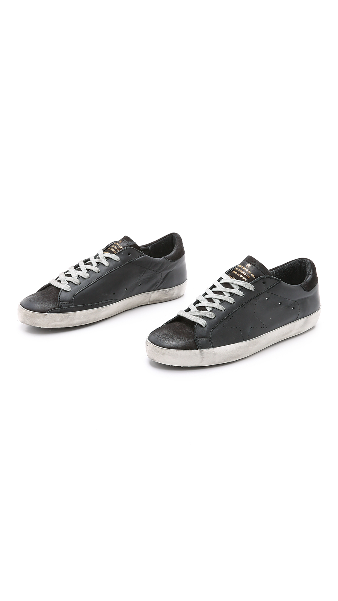 a58098f2dc2d1 Lyst - Golden Goose Deluxe Brand Superstar Leather Low-Top Sneakers ...