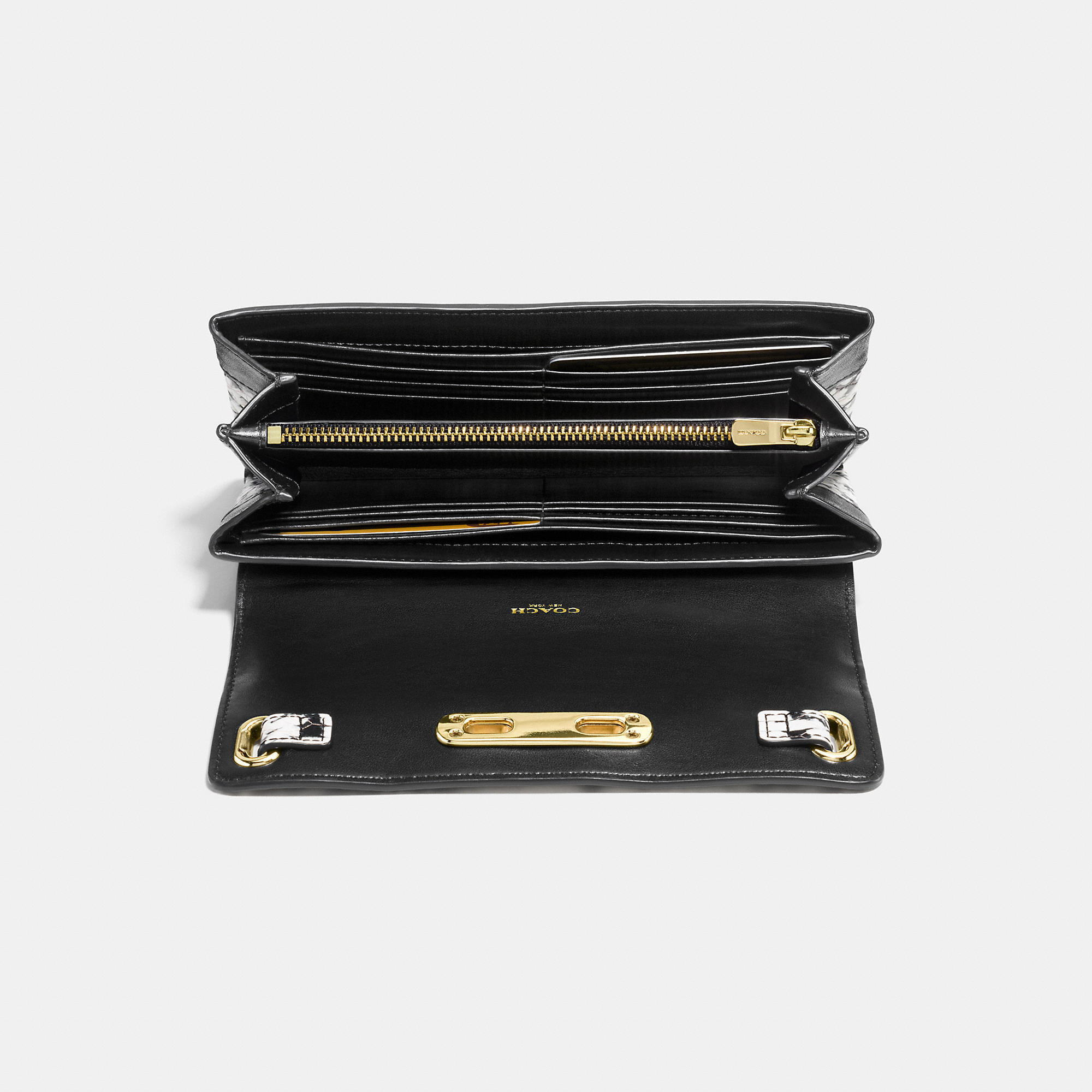 Coach Swagger Wallet In Colorblock Exotic Embossed Leather in ...