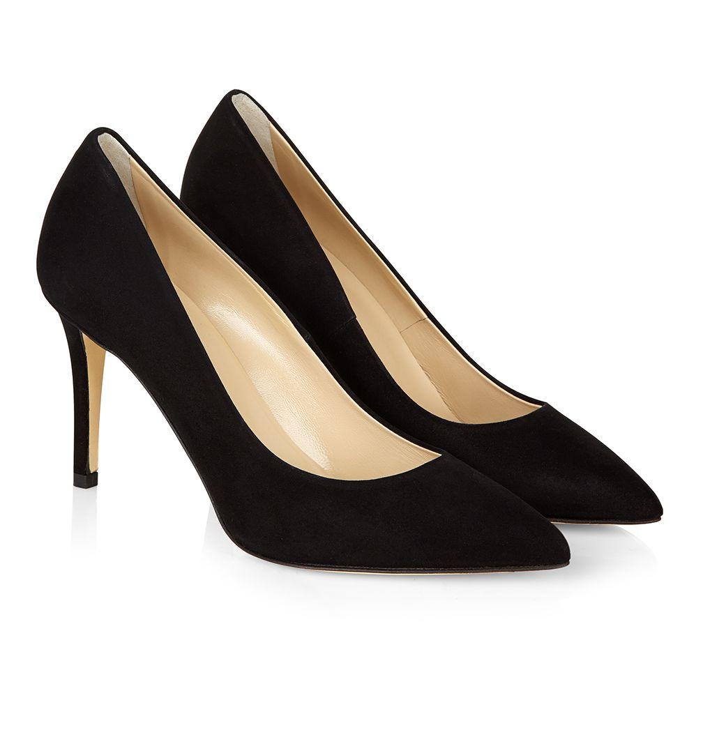 Hobbs Black Court Shoes