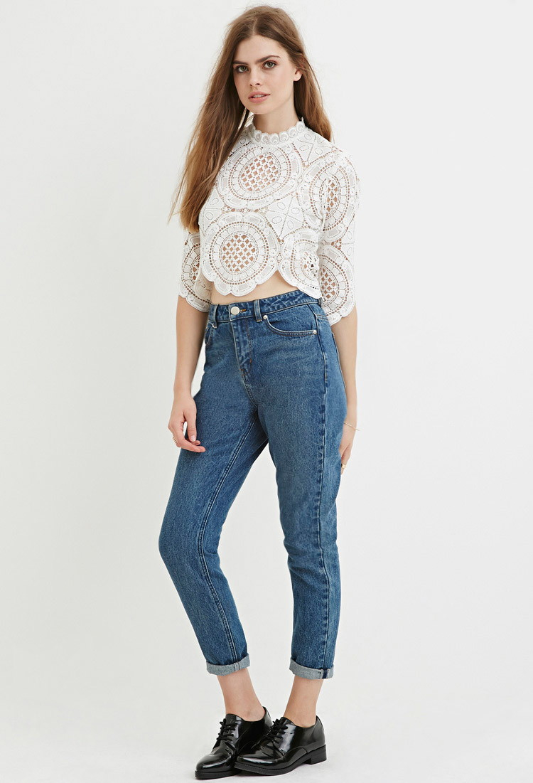 b9586a87dc Forever 21 Contemporary Life In Progress Mom Jeans in Blue - Lyst