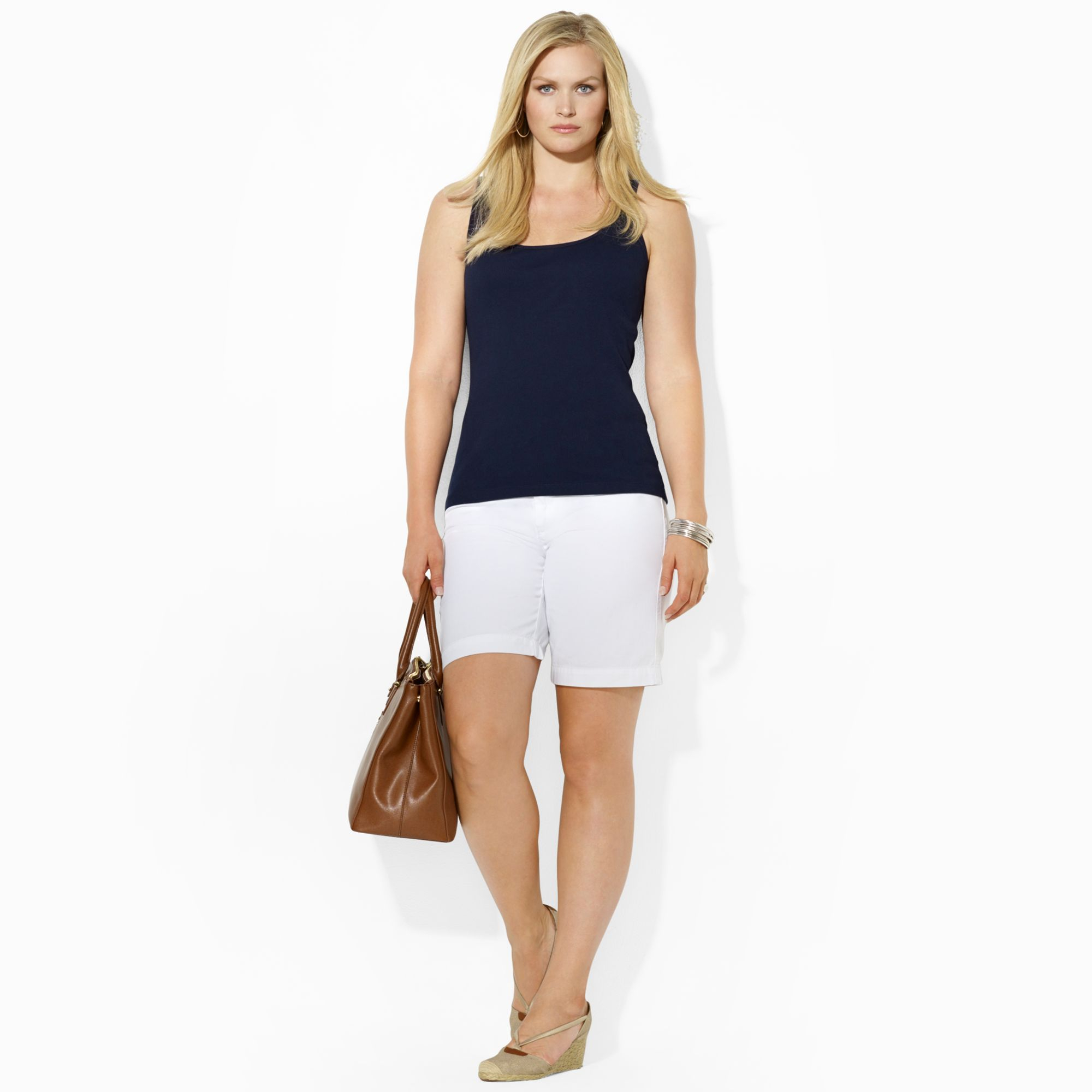 Lauren by ralph lauren Lauren Jeans Co Kneelength Cotton Shorts in ...