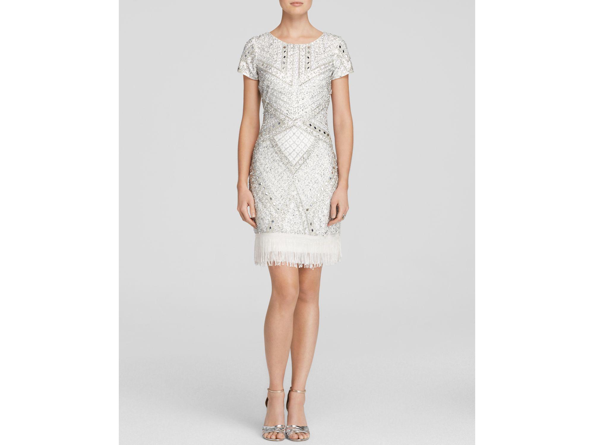 Beaded Fringe Dress with Sleeves