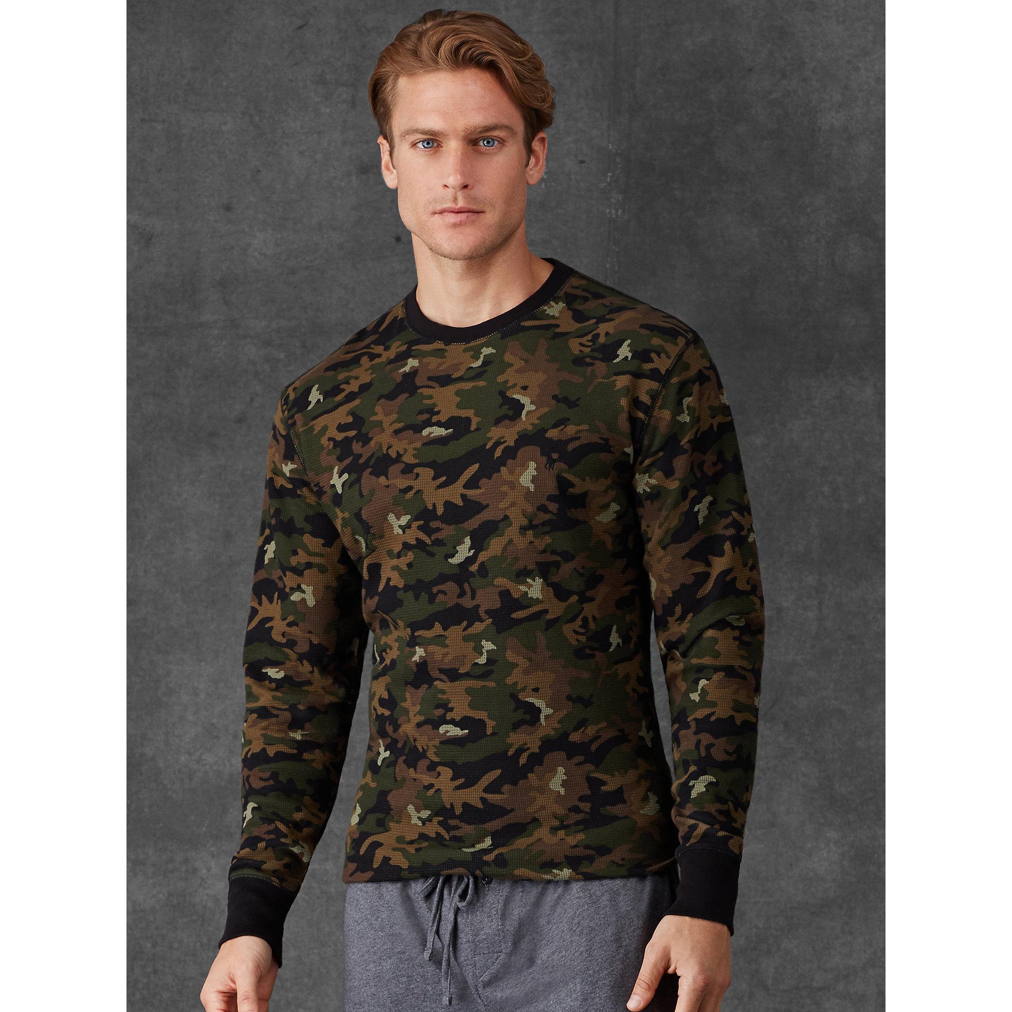 53c81ecd ... uk lyst polo ralph lauren camo long sleeved t shirt in green for men  c6a84 f5757
