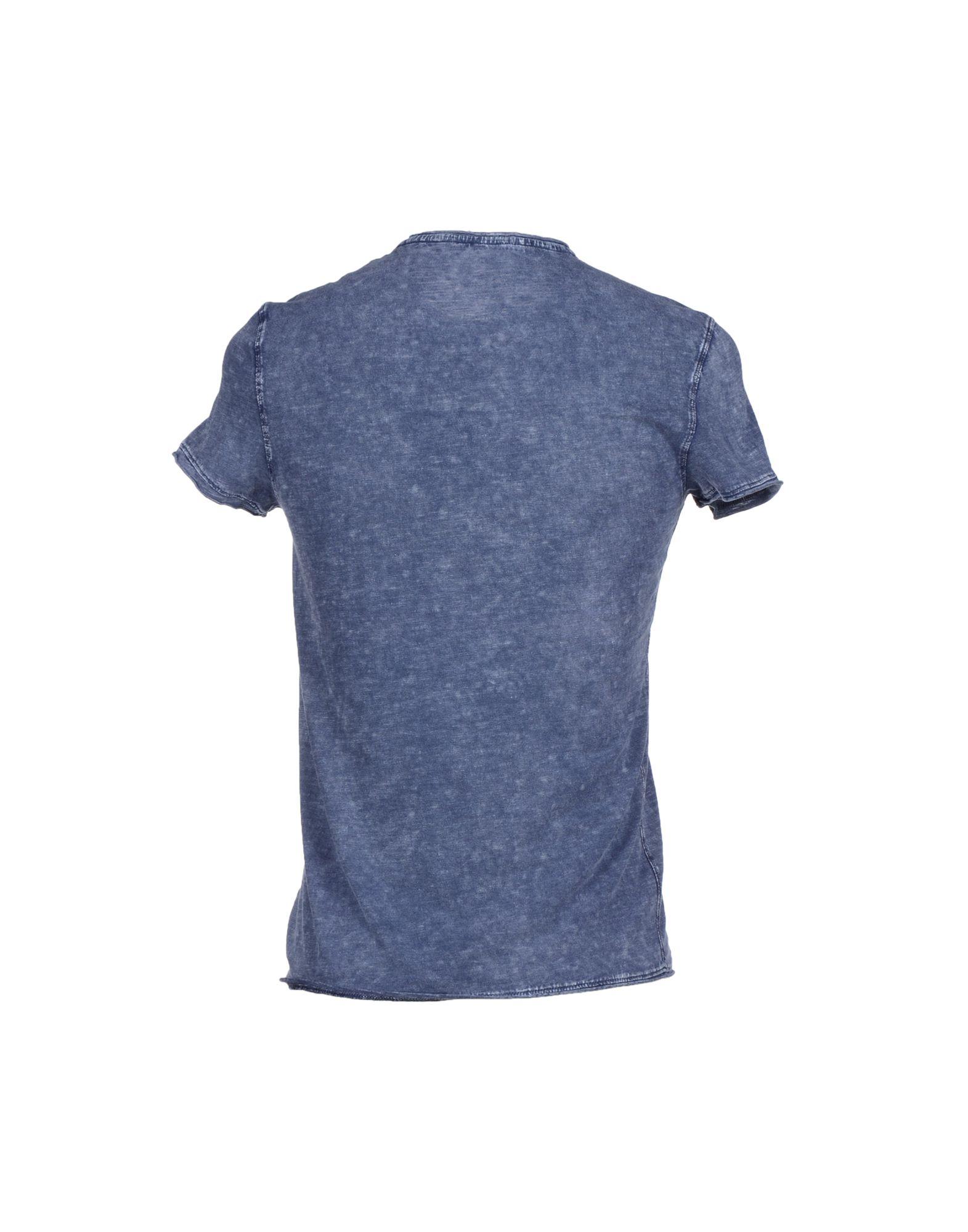 Calvin klein jeans blue t shirt for men lyst for T shirt dark blue