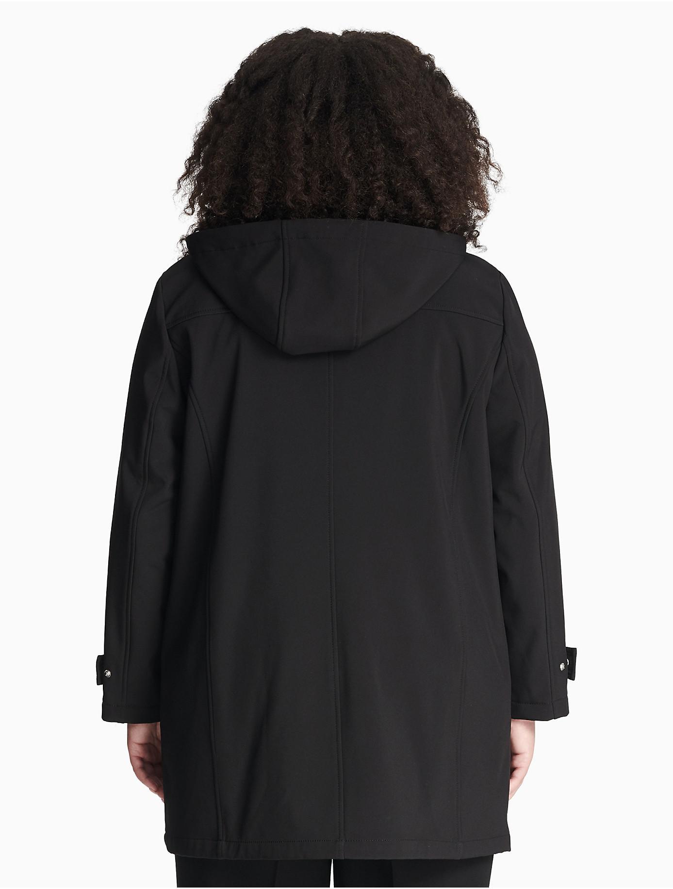 0bf20b2200c Calvin Klein - Black Plus Size Soft Shell Hooded Jacket - Lyst. View  fullscreen