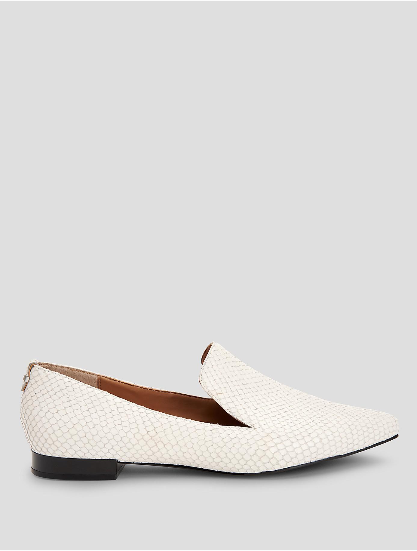 52c681b79a3 Lyst - CALVIN KLEIN 205W39NYC Elin Matte Snake Loafer in White