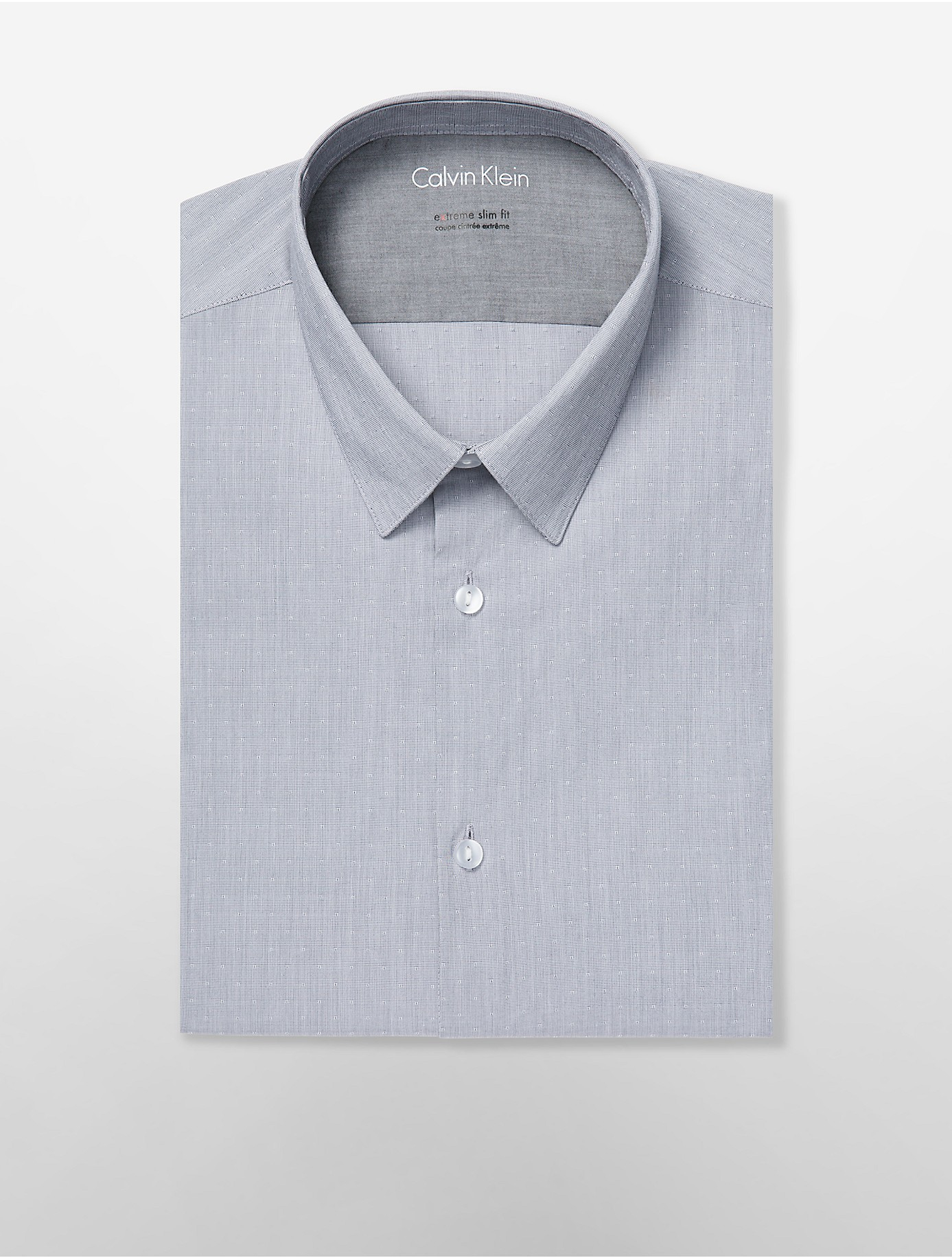 Calvin klein x fit ultra slim fit shadow dot dress shirt for Calvin klein x fit dress shirt
