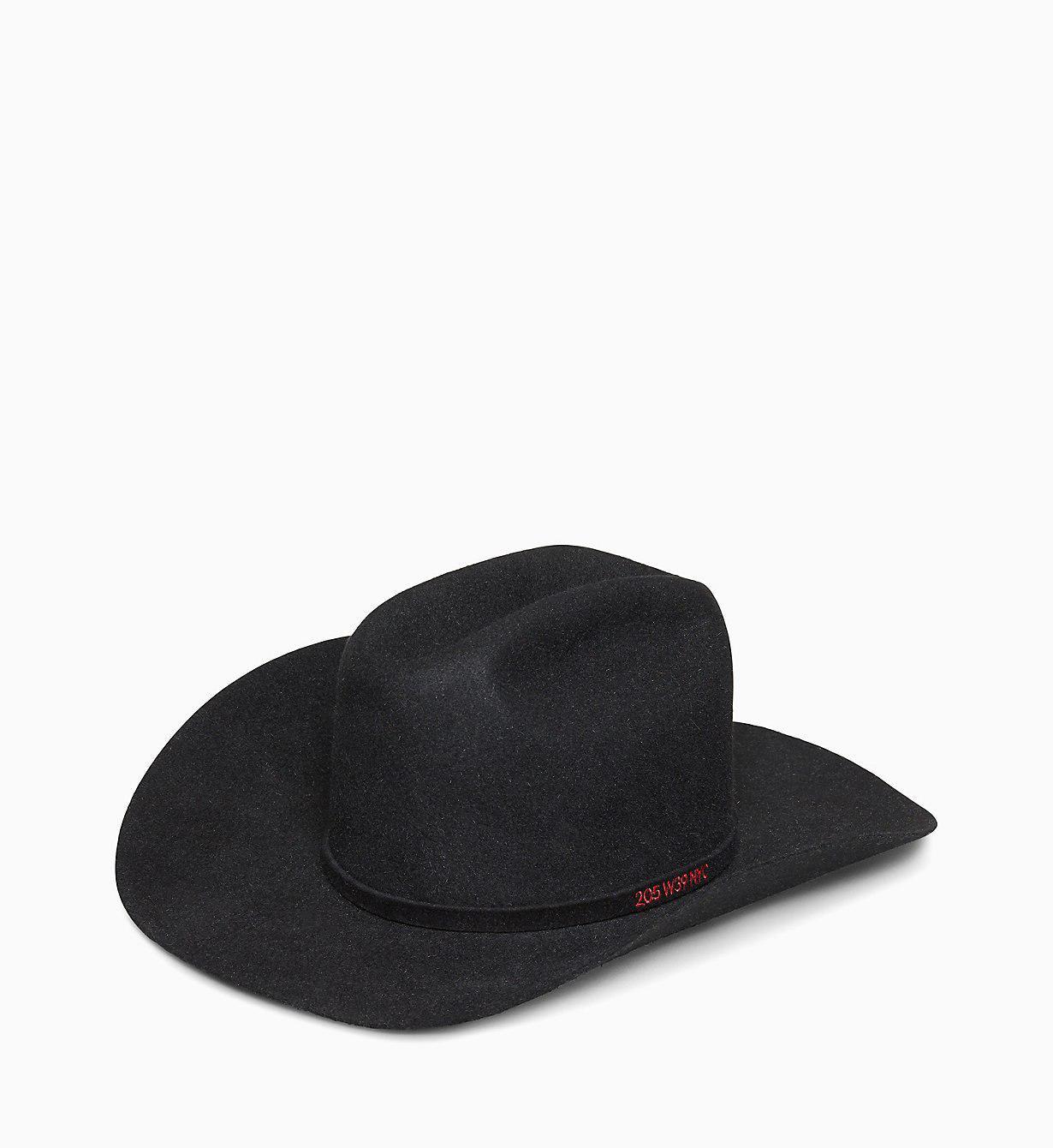 6fe976a1676 Calvin Klein 205w39nyc Cowboy Hat in Black - Lyst
