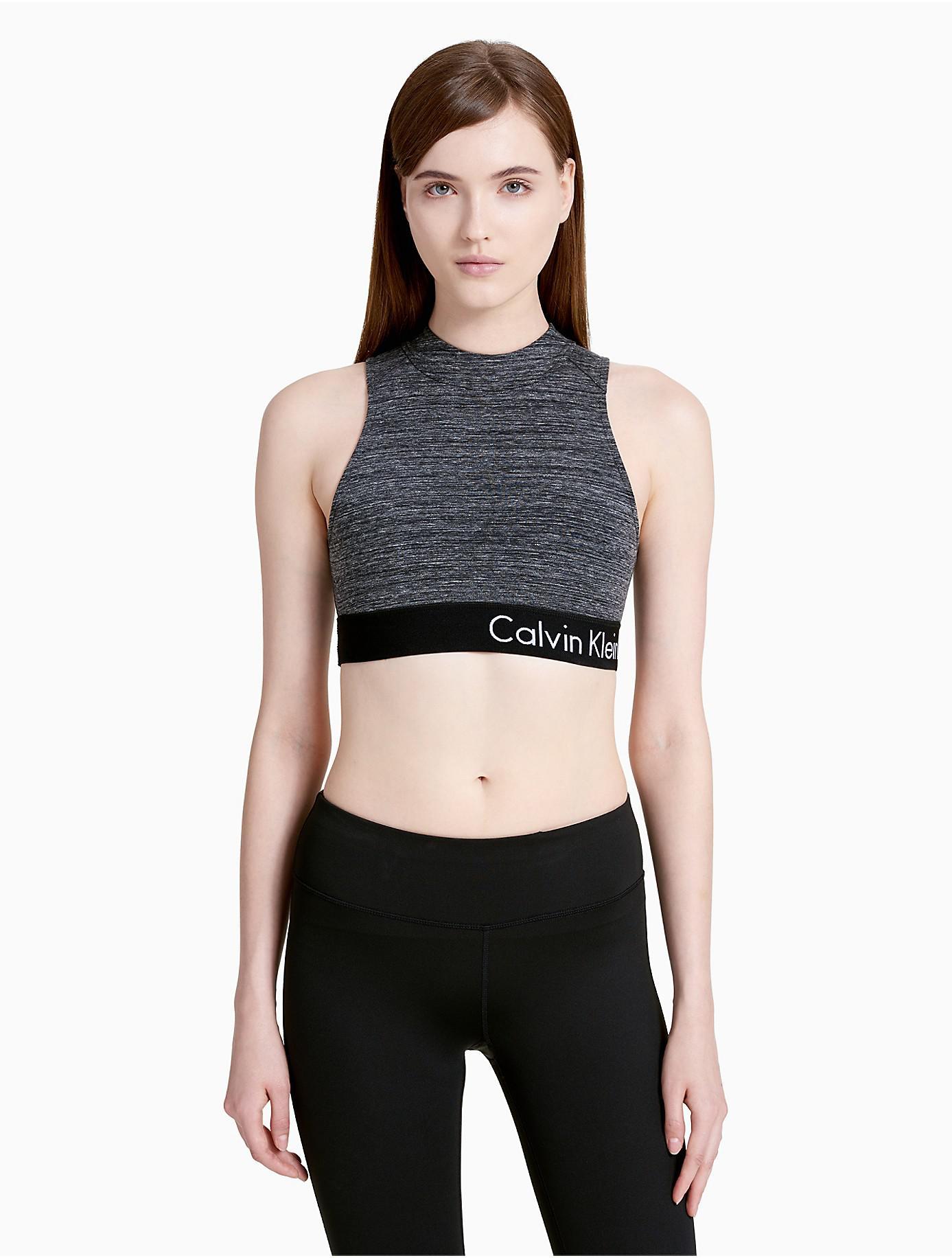 88667e61a8 Lyst - Calvin Klein Performance Logo Cross-back Sports Bra in Black